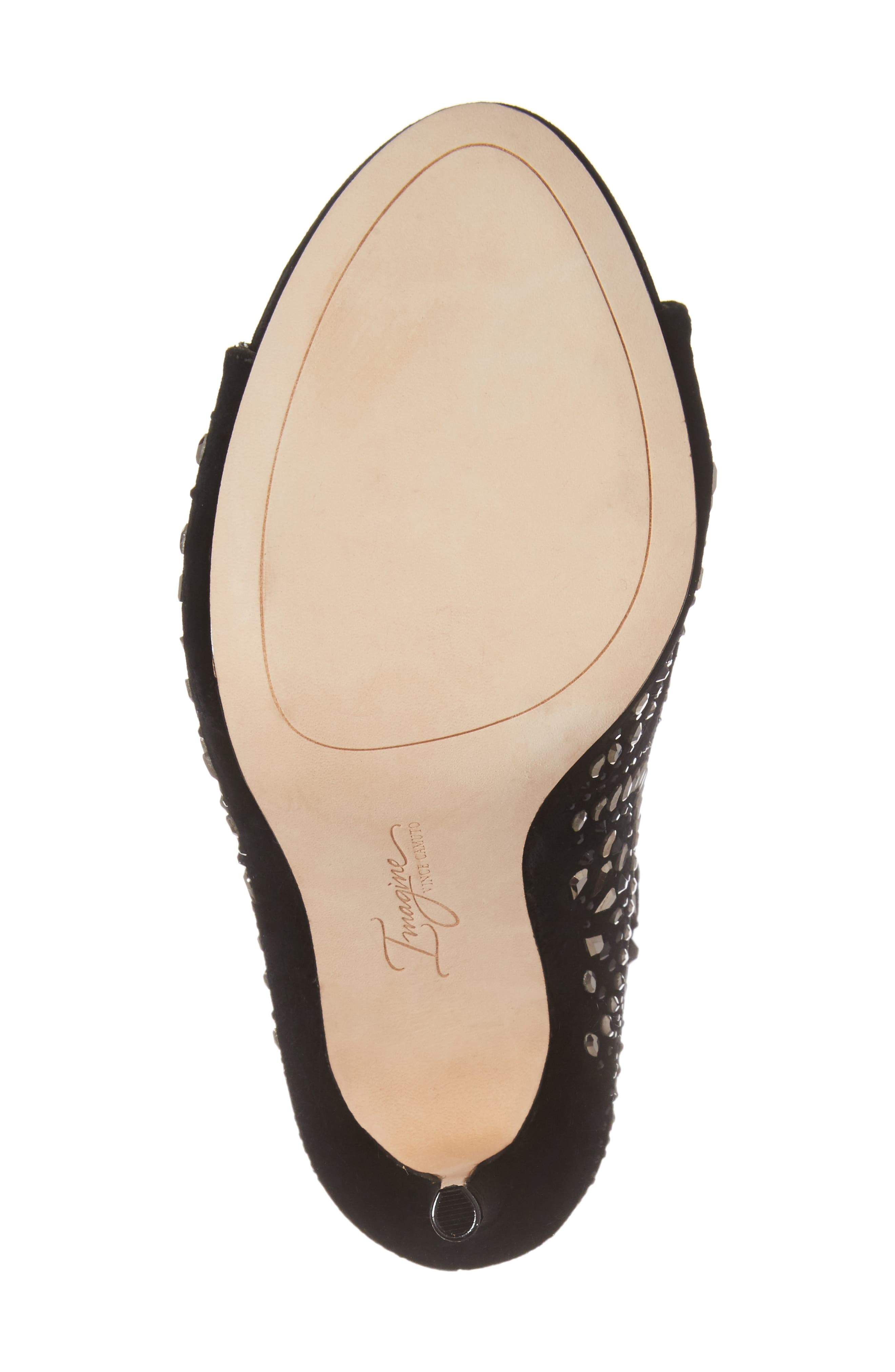 Imagine Vince Camuto Delore Embellished Slouchy Bootie,                             Alternate thumbnail 6, color,                             001