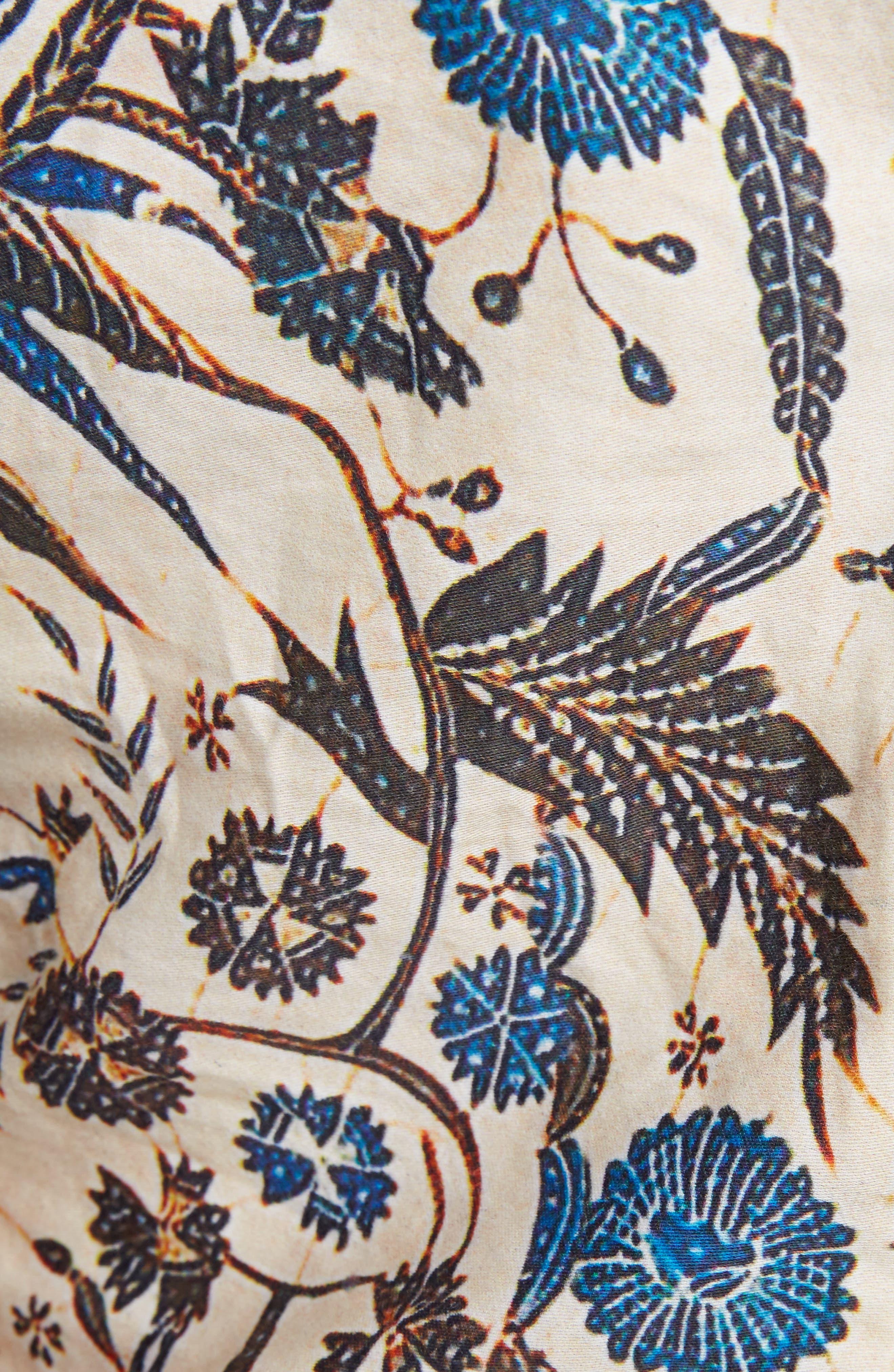 Isabel Marant Étoile Carey Print Cotton Top,                             Alternate thumbnail 5, color,                             250