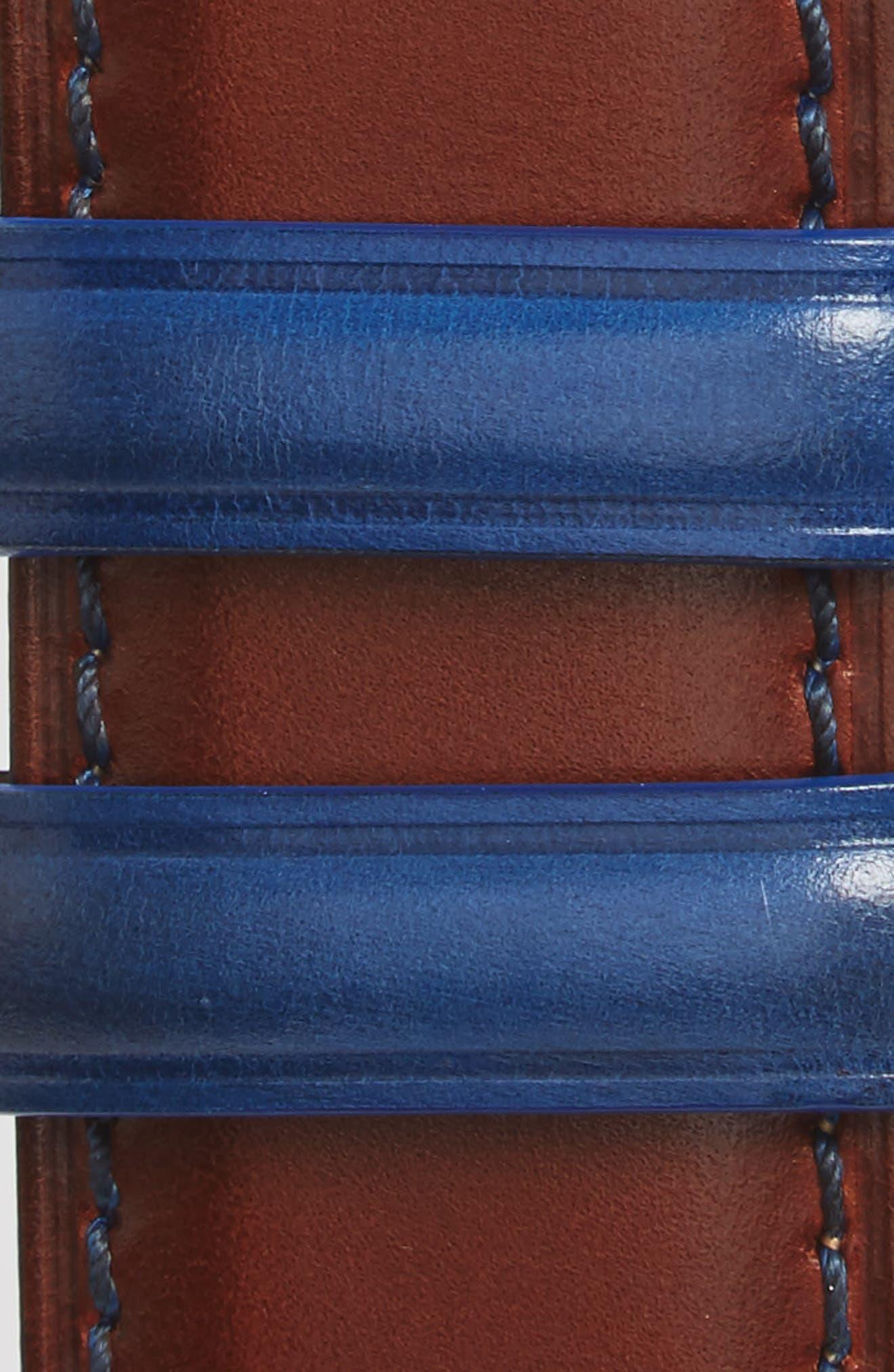 Burnished Calfskin Belt,                             Alternate thumbnail 4, color,