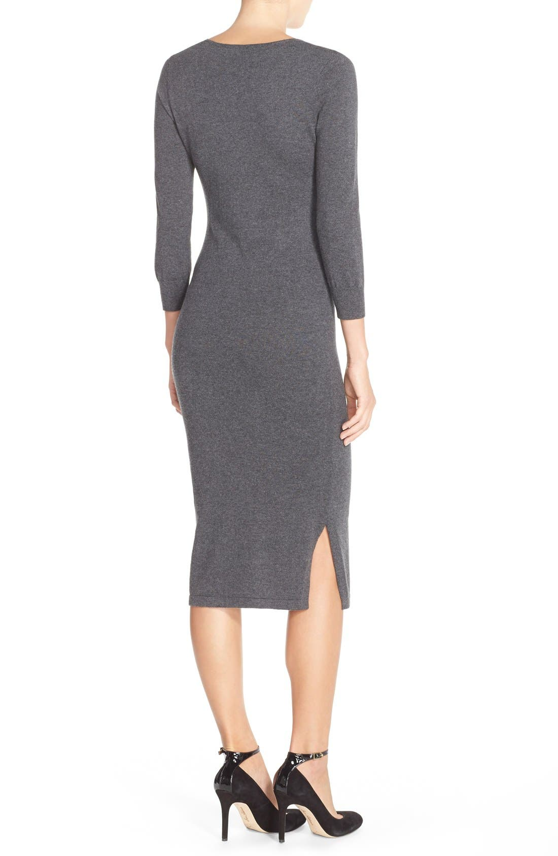 'Bambino' Knit Sweater Dress,                             Alternate thumbnail 5, color,                             023