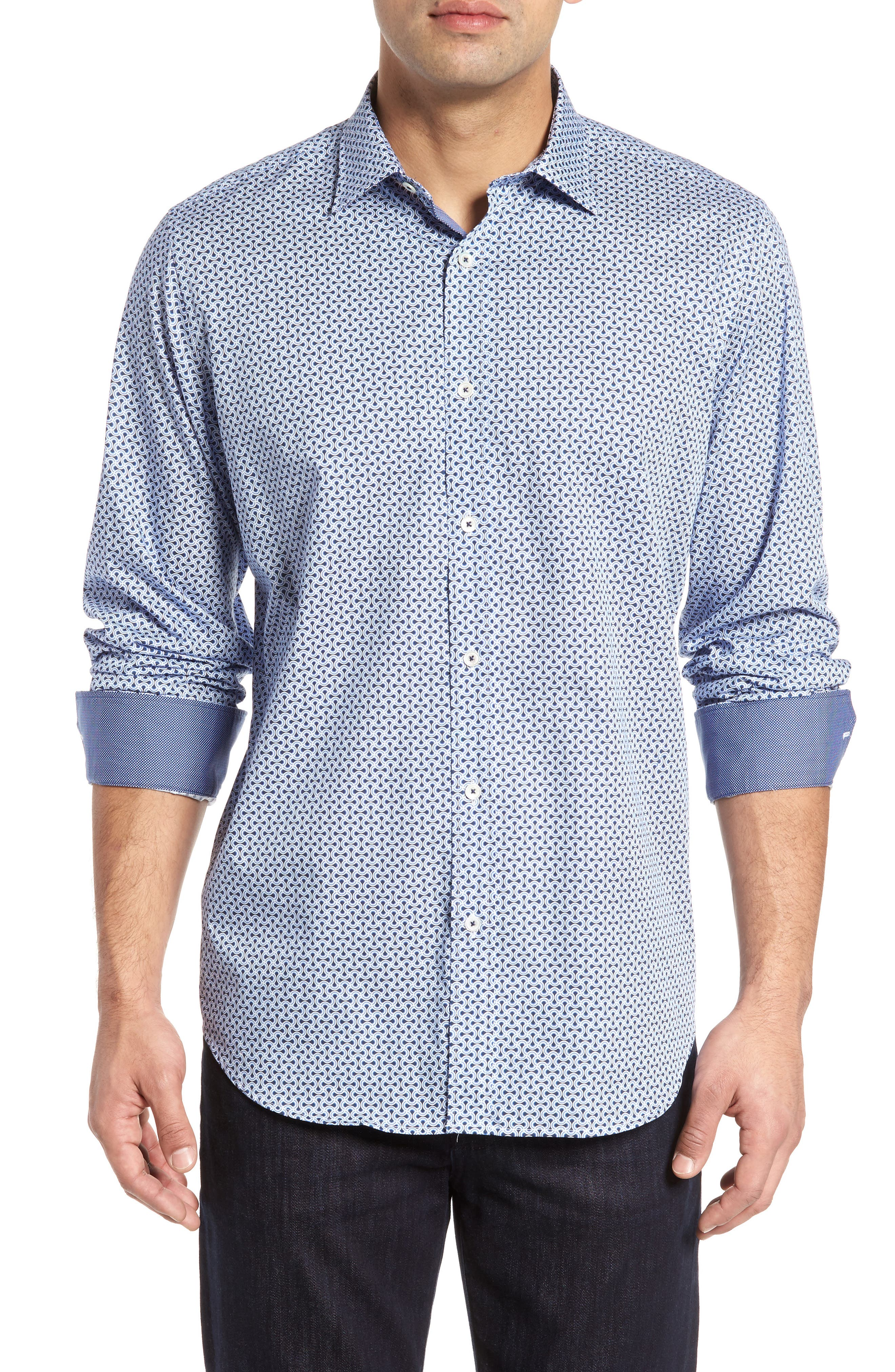Classic Fit Print Sport Shirt,                         Main,                         color, 451