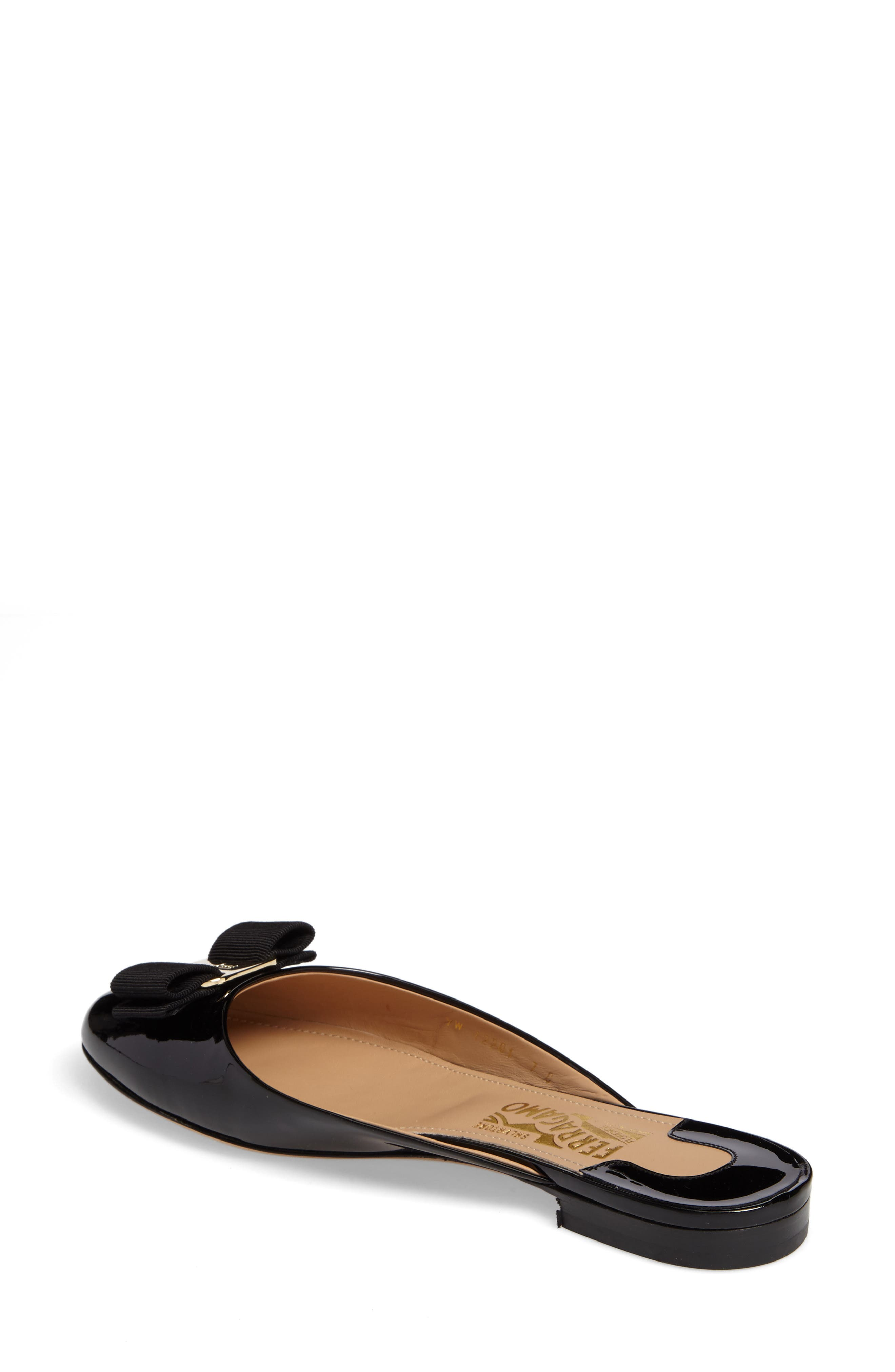 Rounded Toe Bow Mule,                             Alternate thumbnail 2, color,                             001