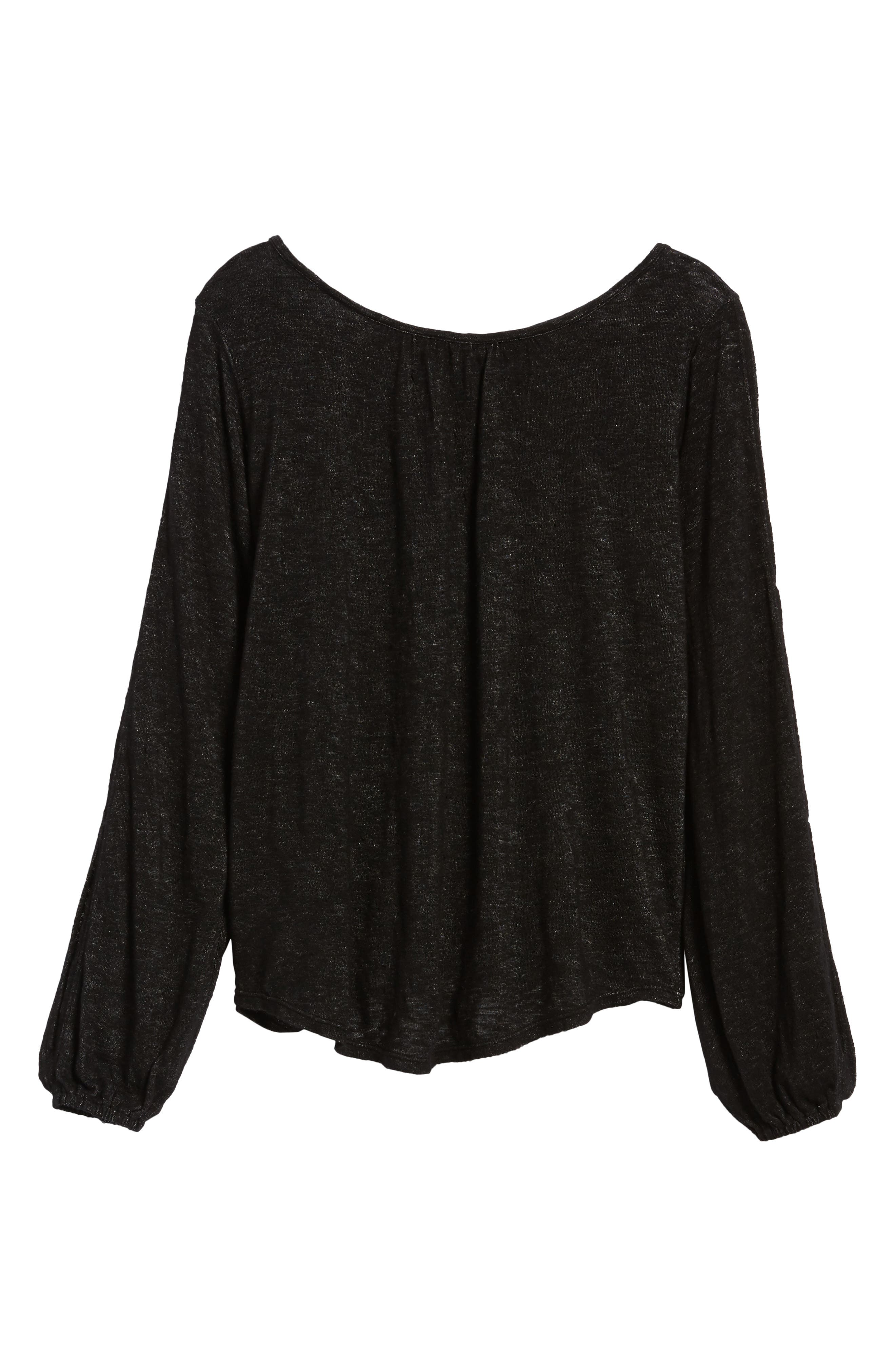 Slit Sleeve Knit Top,                             Alternate thumbnail 6, color,                             001