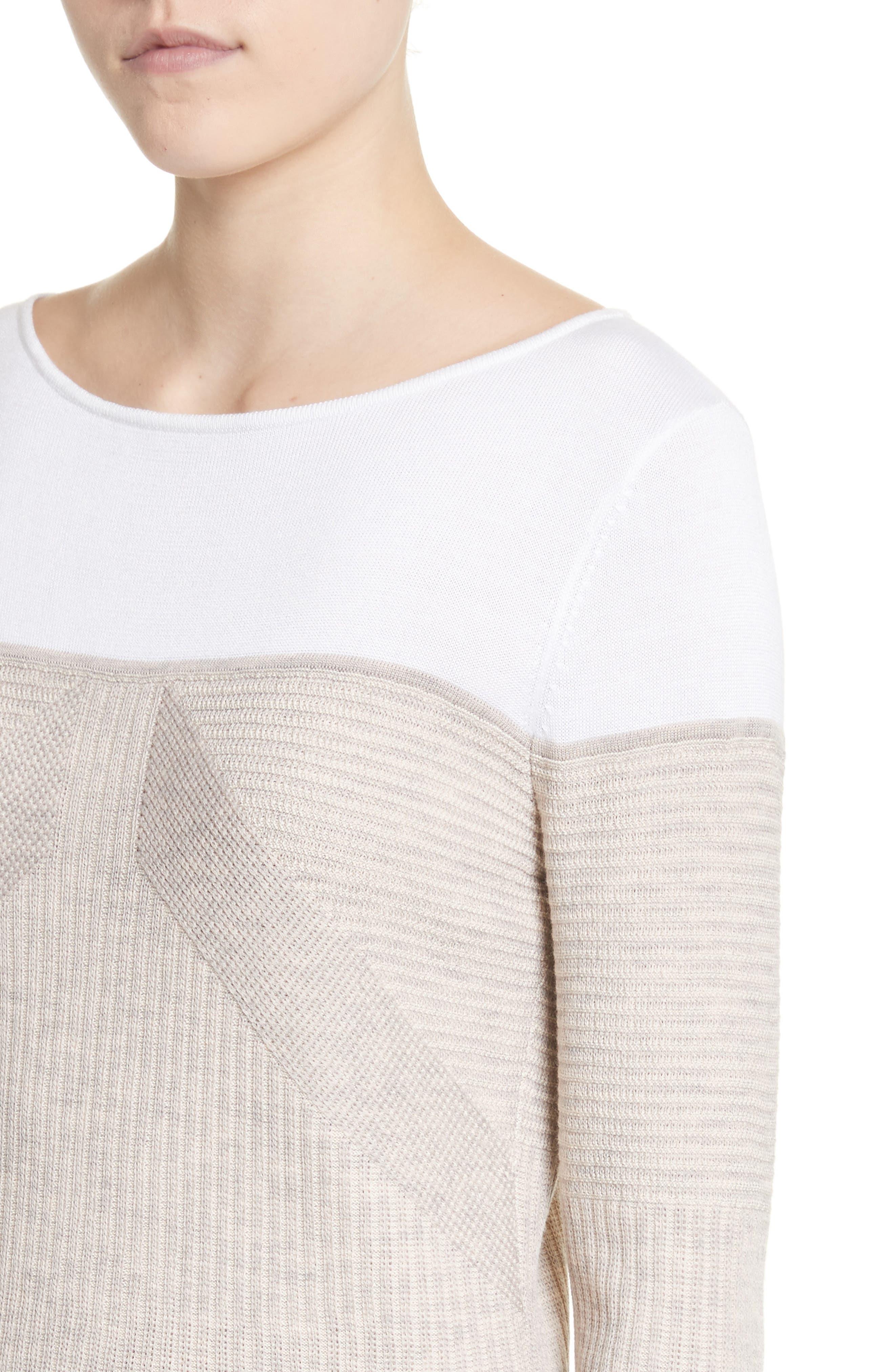 Tech Rib Knit Sweater,                             Alternate thumbnail 4, color,                             200