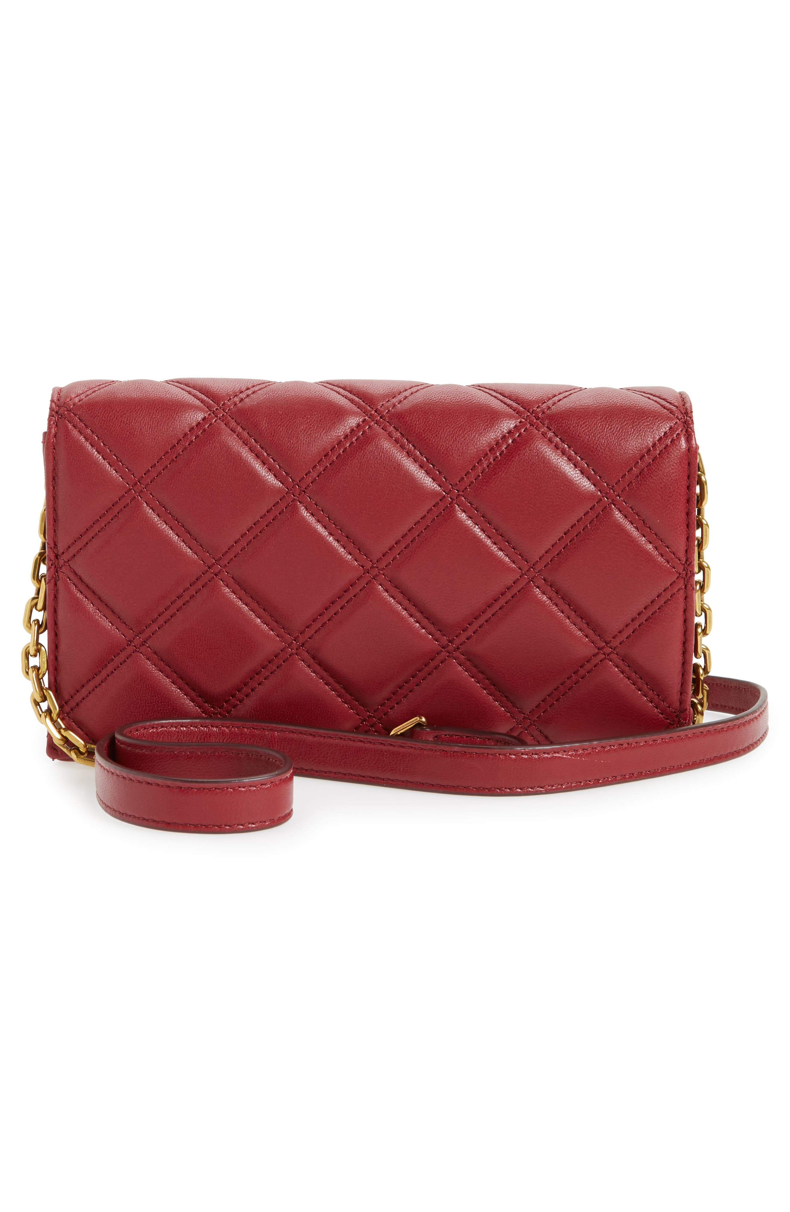 Quilted Leather Wallet on a Chain,                             Alternate thumbnail 3, color,                             930