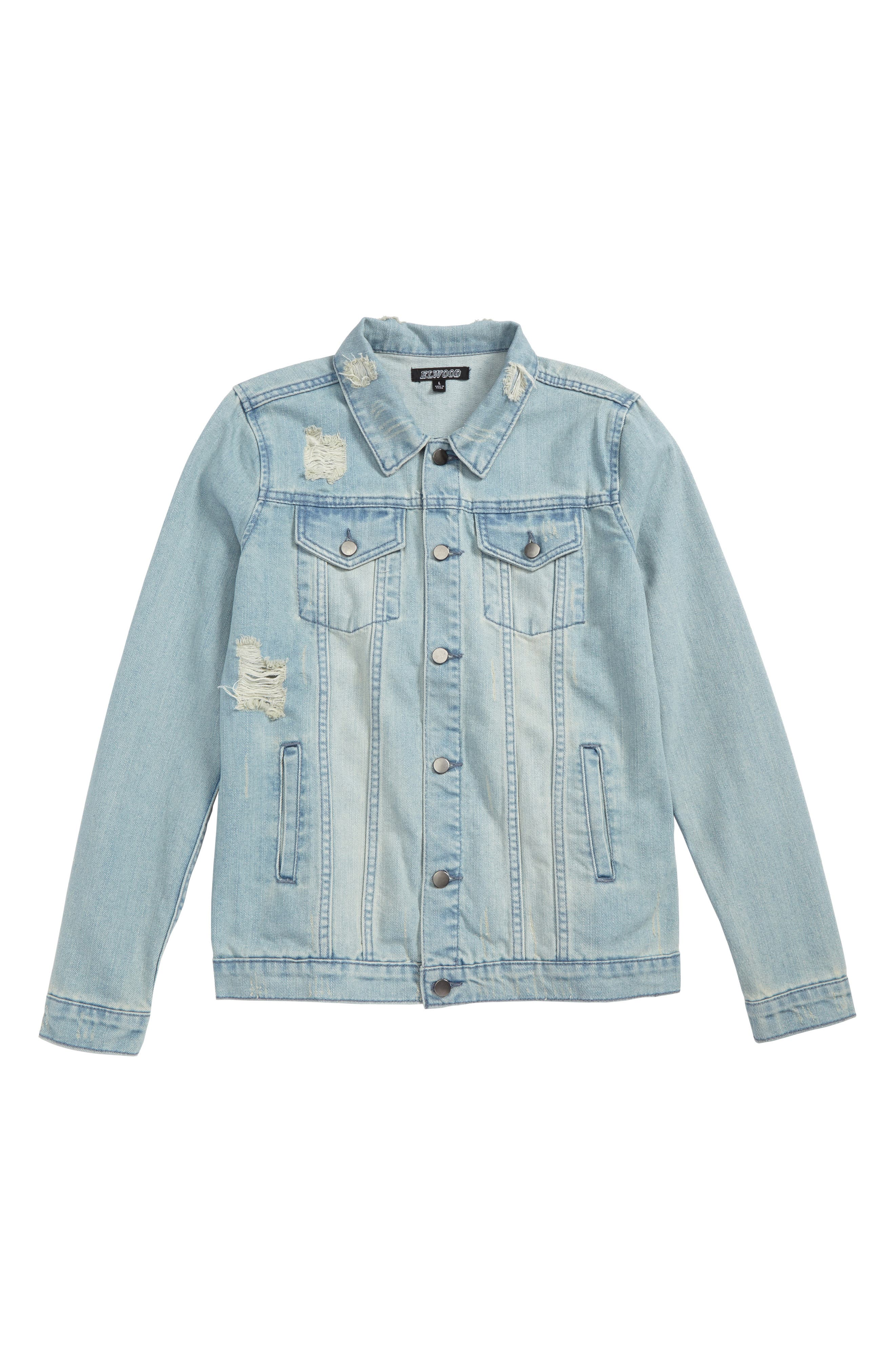 Destroyed Trucker Jacket,                             Main thumbnail 1, color,                             460