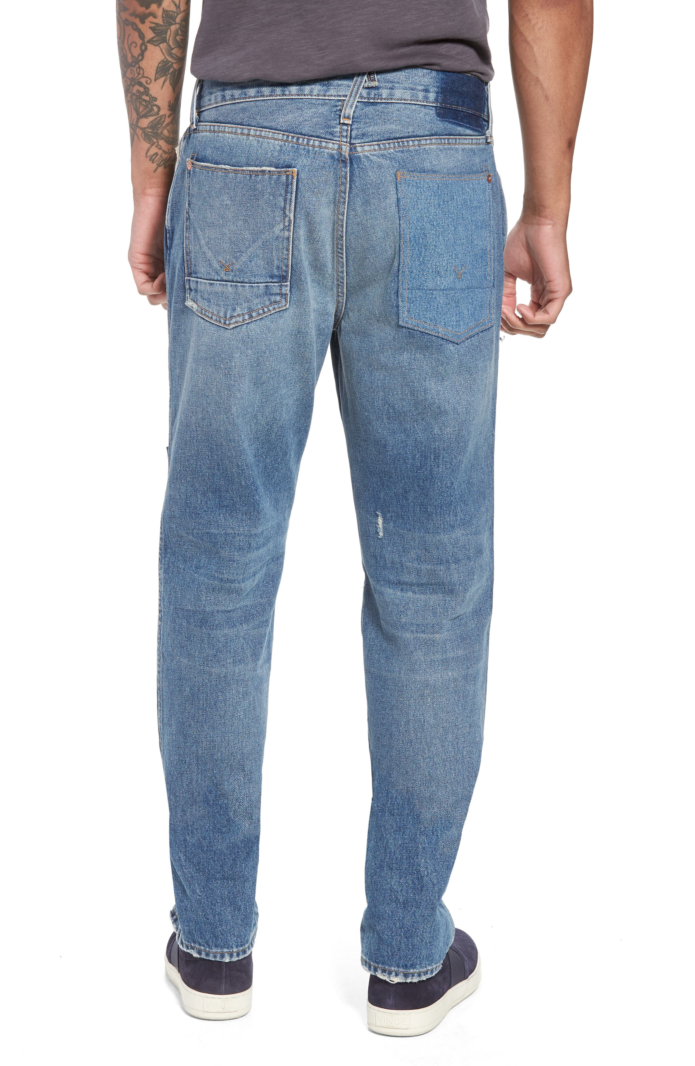 Dixon Straight Leg Jeans,                             Alternate thumbnail 2, color,                             IRON HEAD