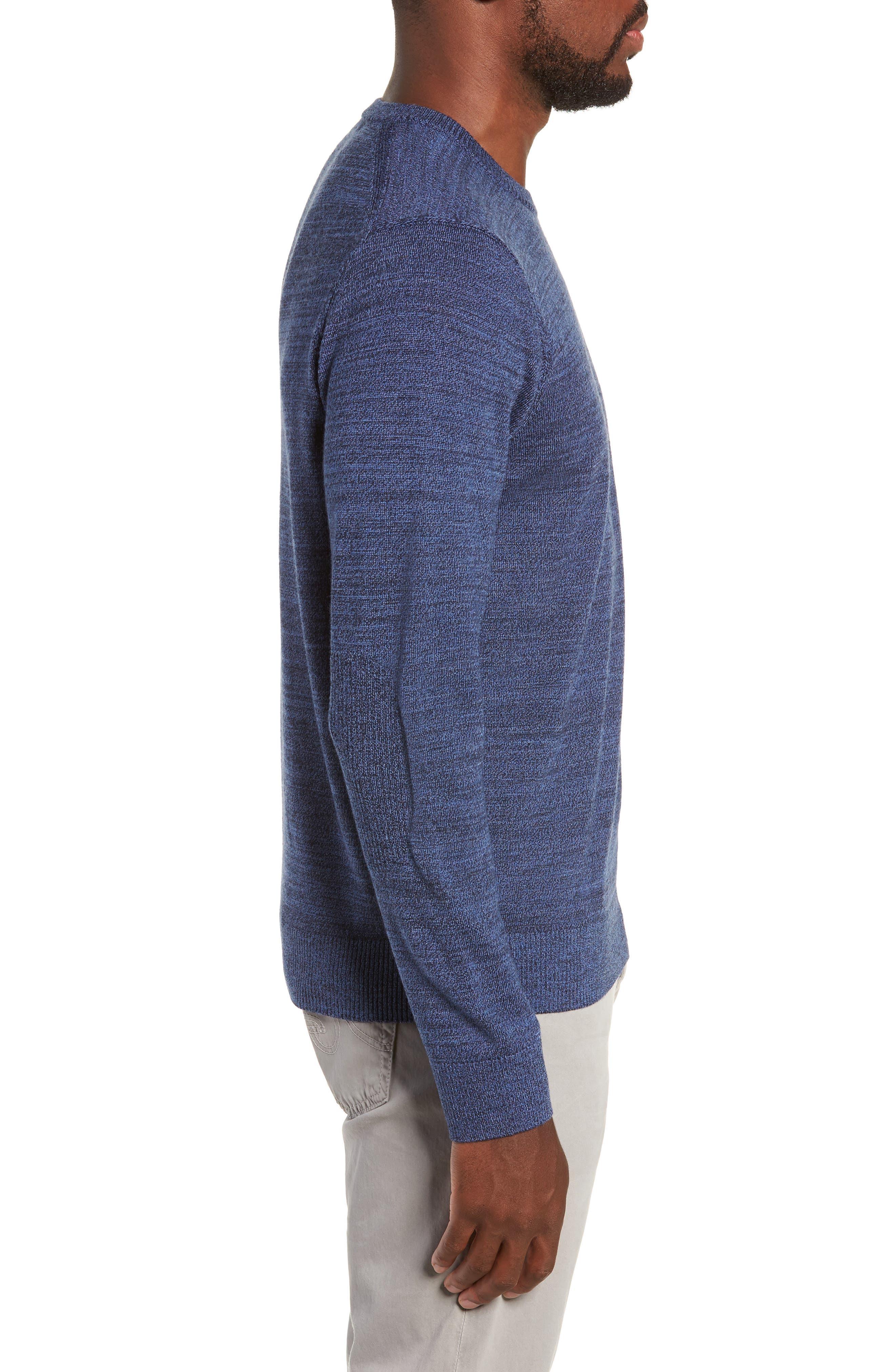 Intaria Star Merino Wool Sweater,                             Alternate thumbnail 3, color,                             BLUE