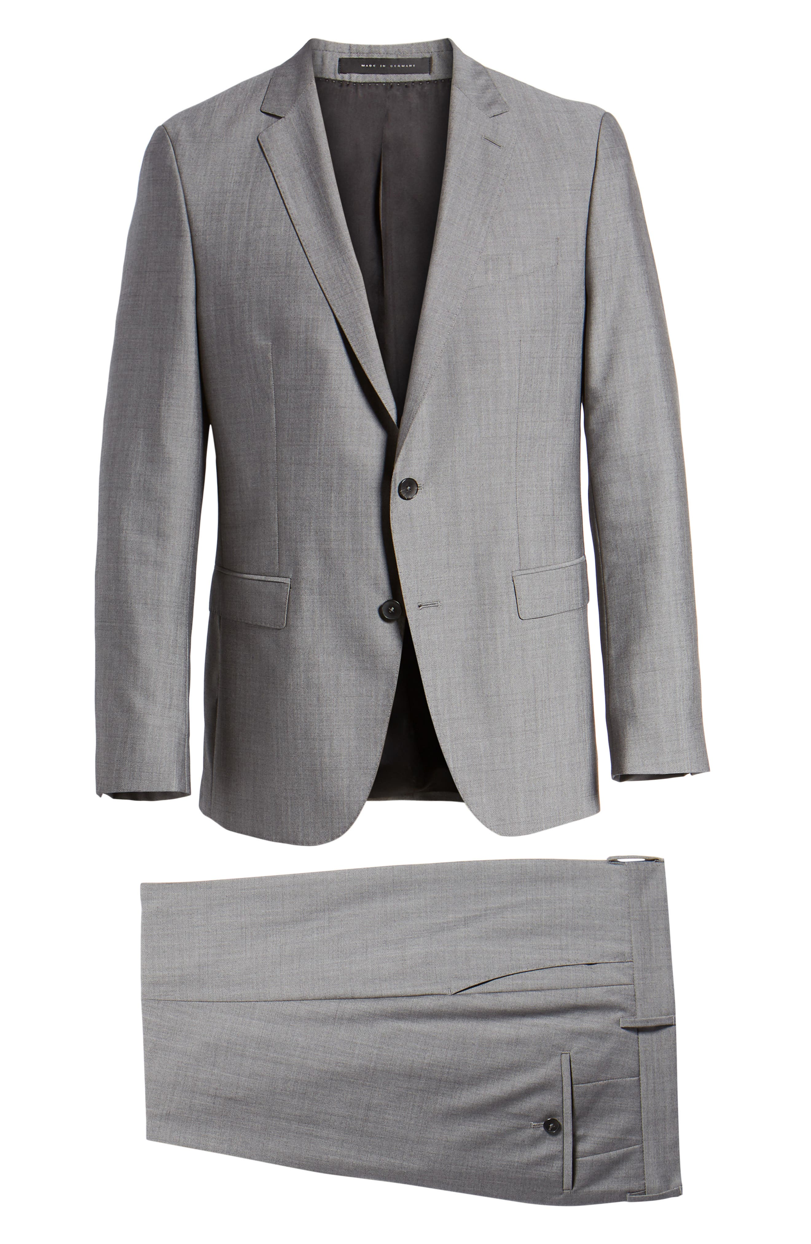 Novan/Ben Trim Fit Solid Wool Suit,                             Alternate thumbnail 8, color,                             069