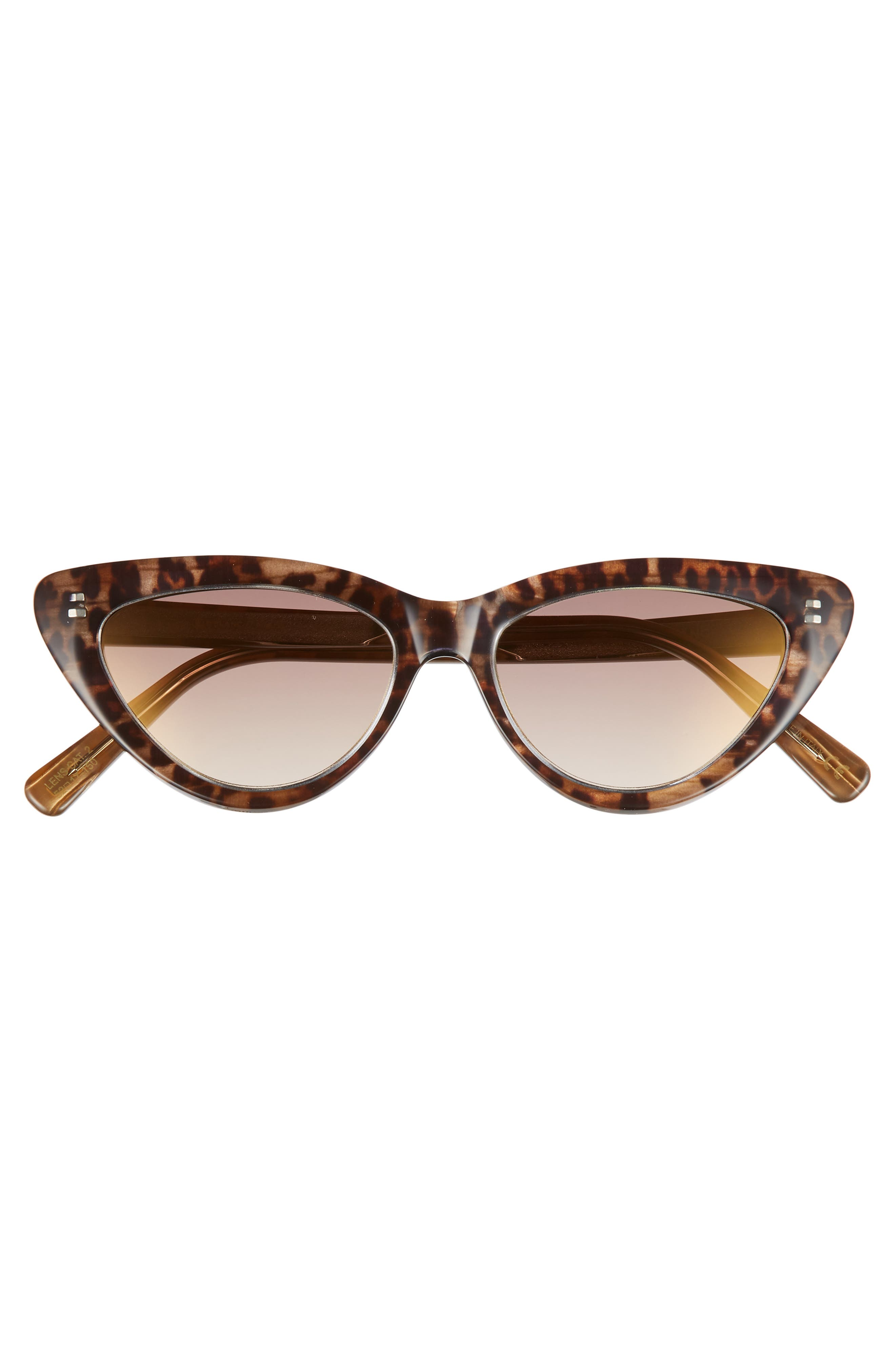 D'BLANC A-Muse 52mm Sunglasses,                             Alternate thumbnail 3, color,                             CHEETAH