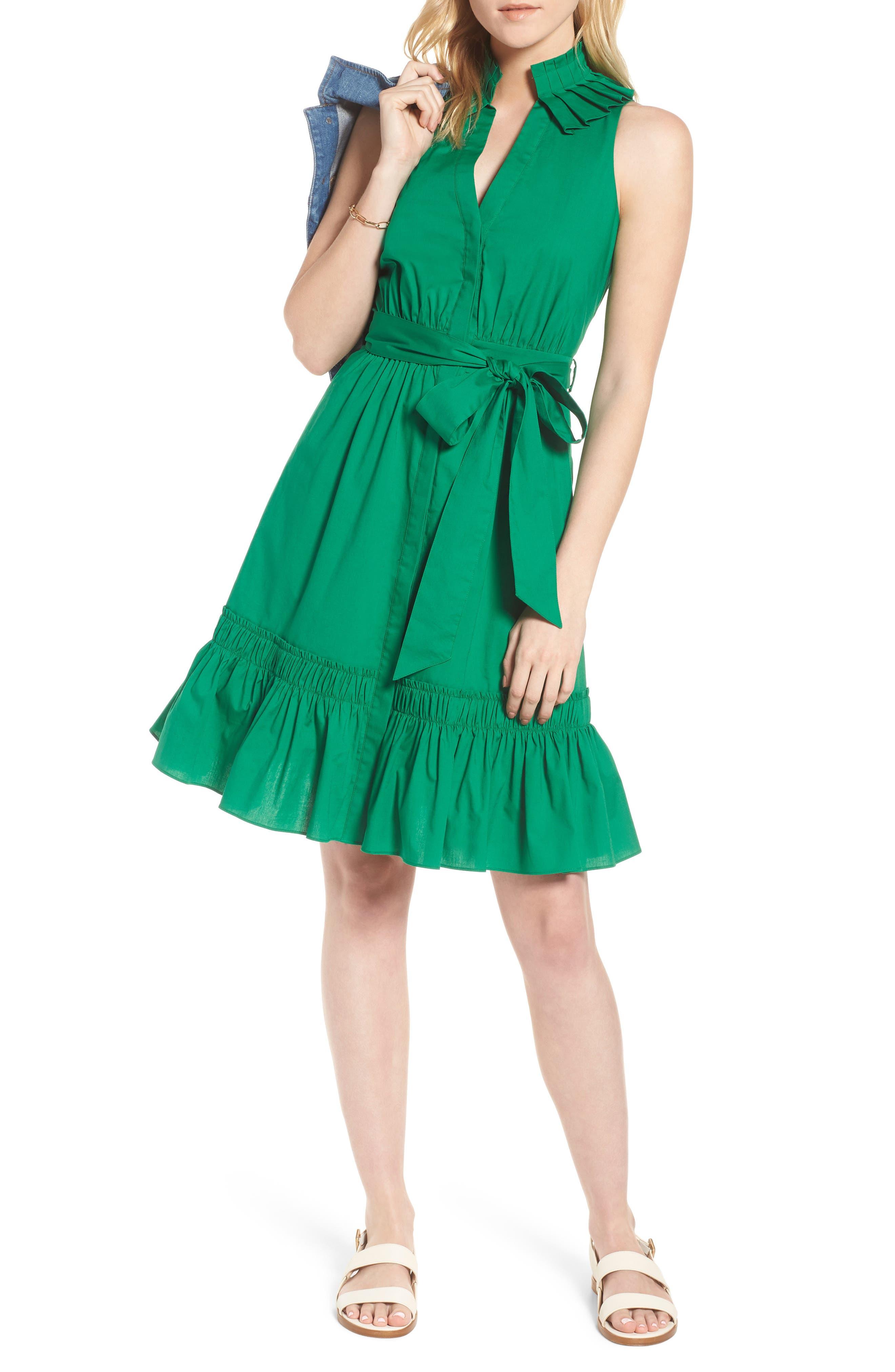 Pleat Collar Shirtdress,                         Main,                         color, 310