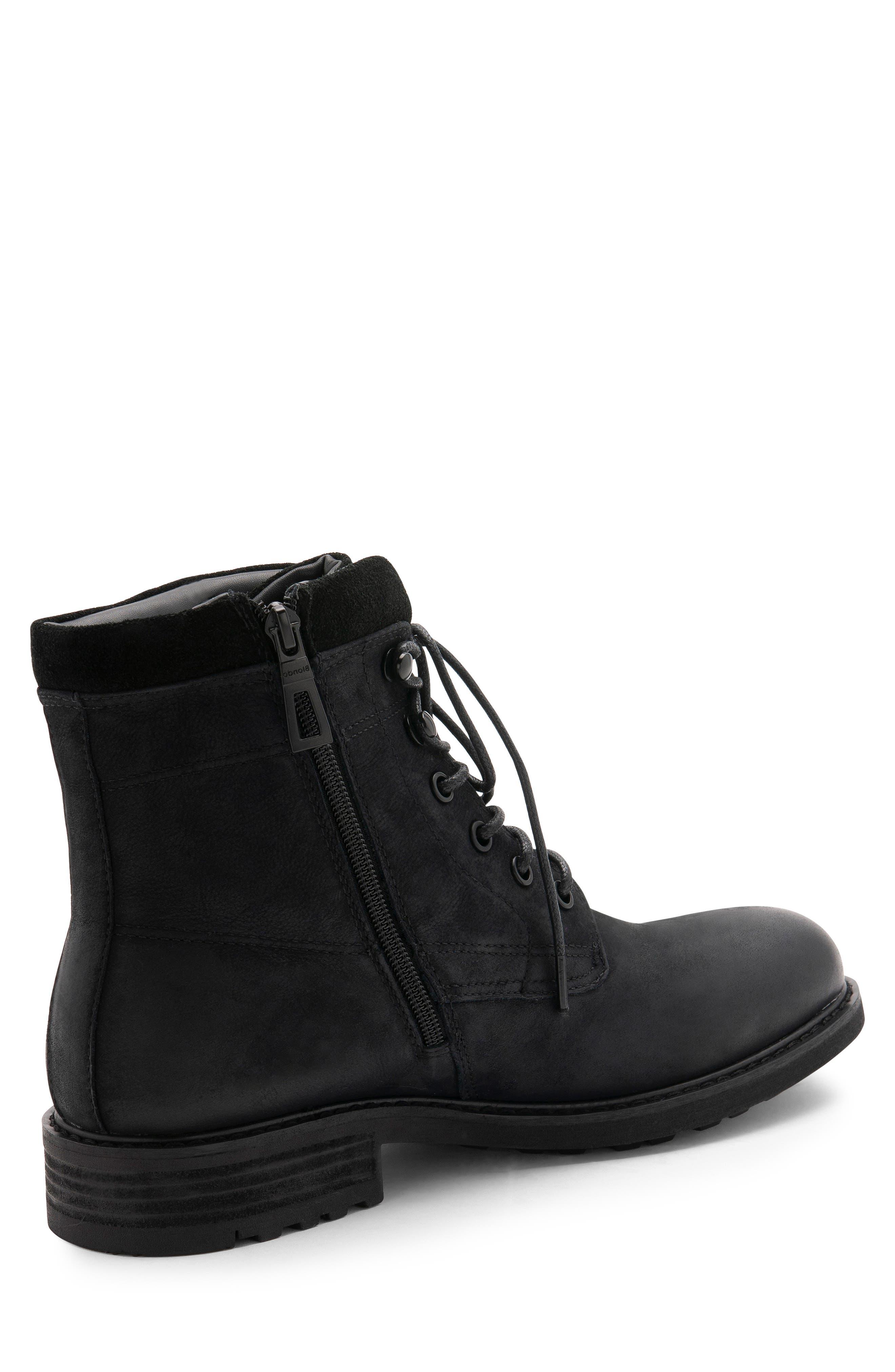 Patton Waterproof Plain Toe Boot,                             Alternate thumbnail 8, color,                             BLACK NUBUCK