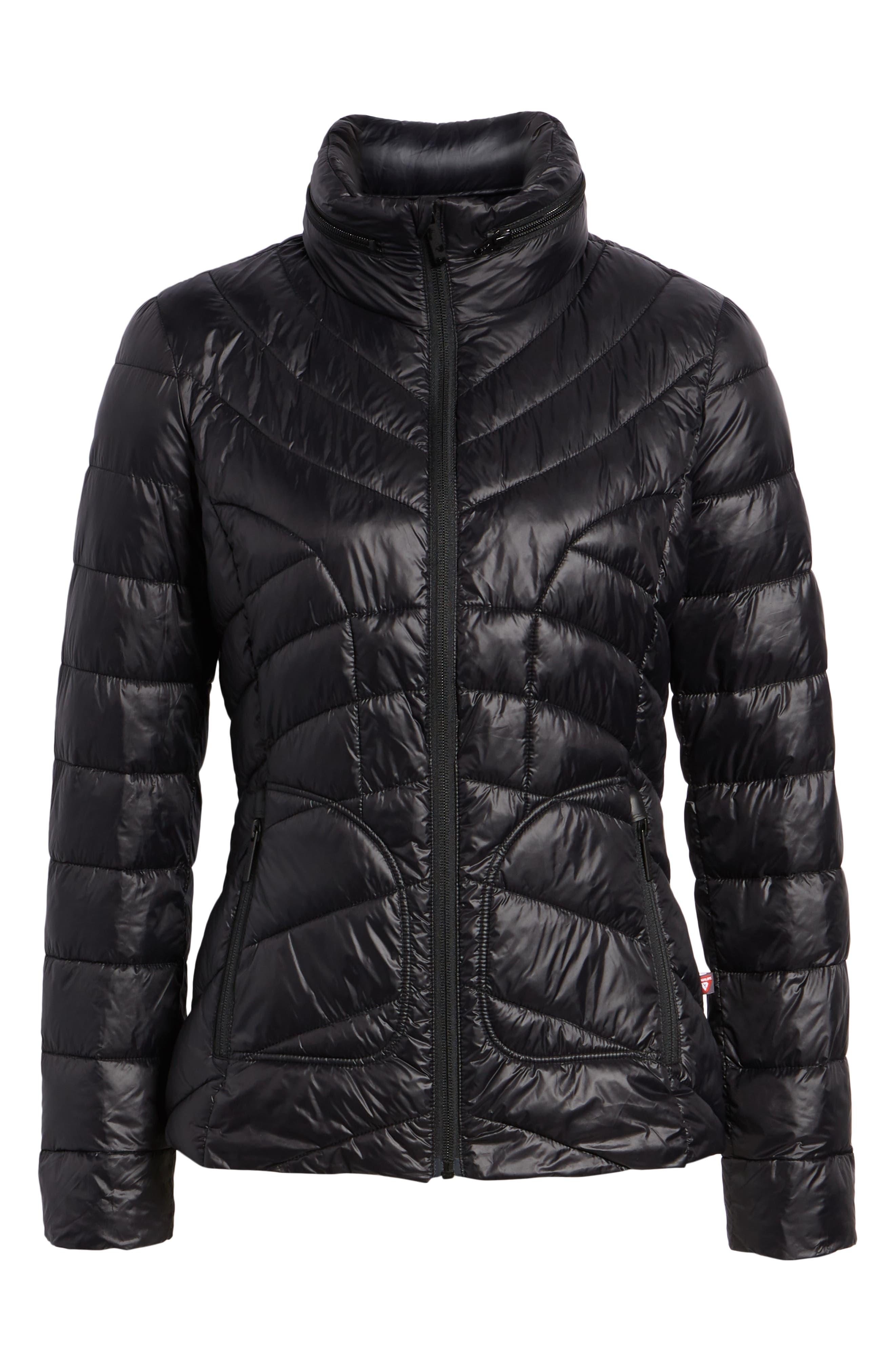 Puffer Jacket,                             Alternate thumbnail 6, color,                             BLACK
