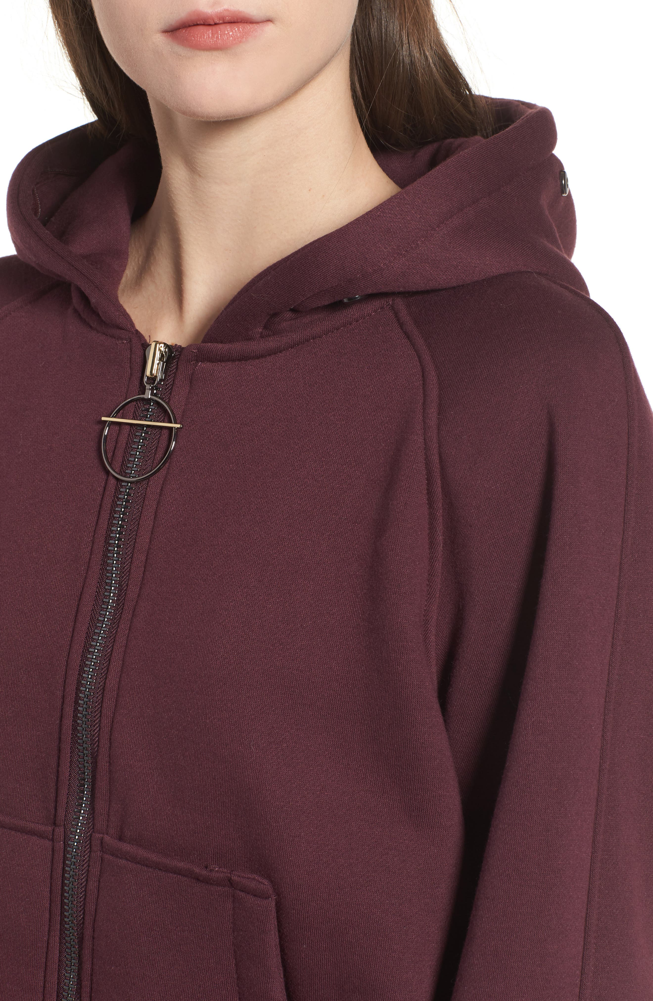 BAGATELLE.CITY The Luxe Hooded Jacket with Genuine Fox Fur Trim,                             Alternate thumbnail 12, color,