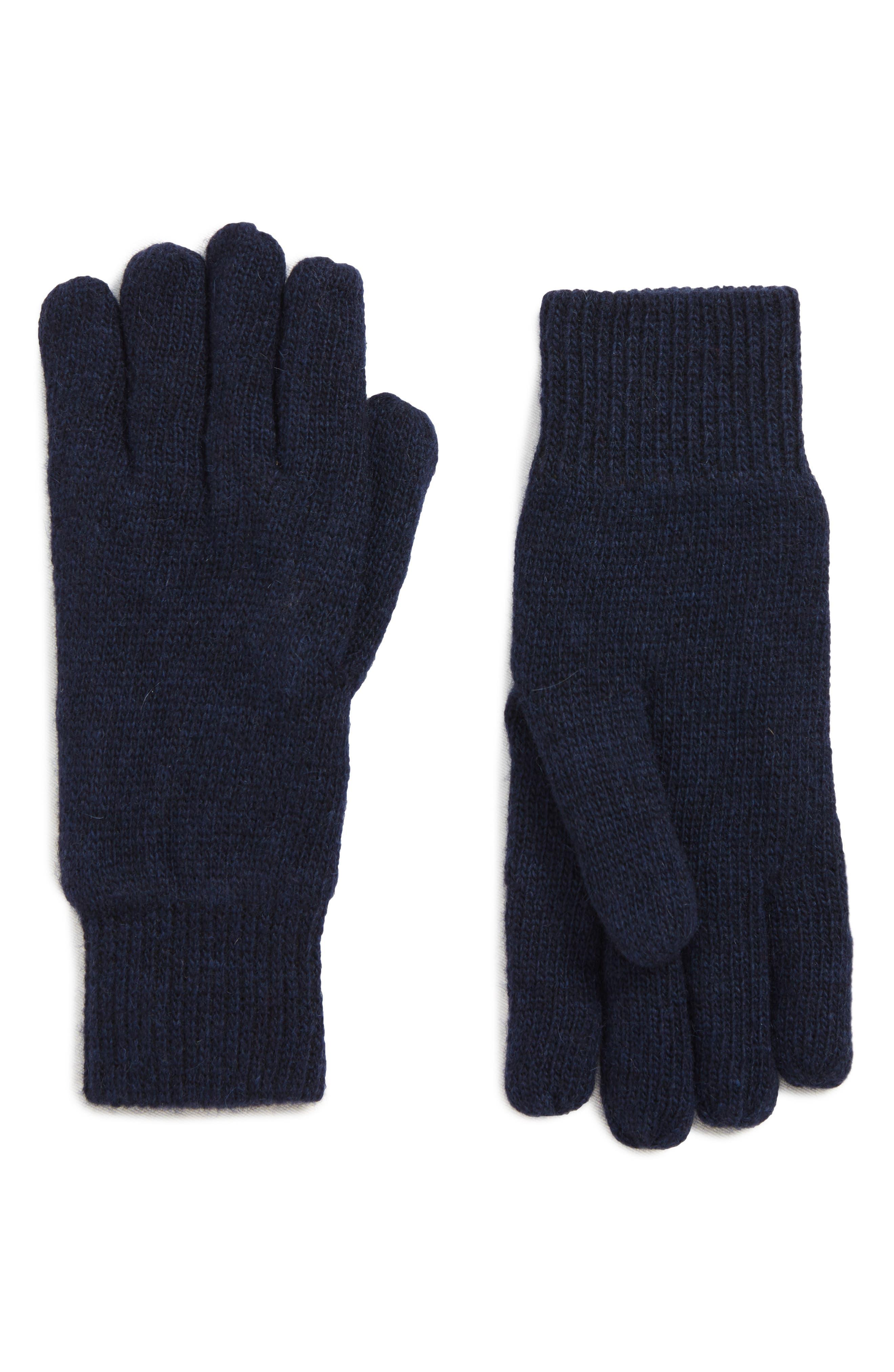 Carlton Stretch Wool Gloves,                             Main thumbnail 1, color,                             NAVY