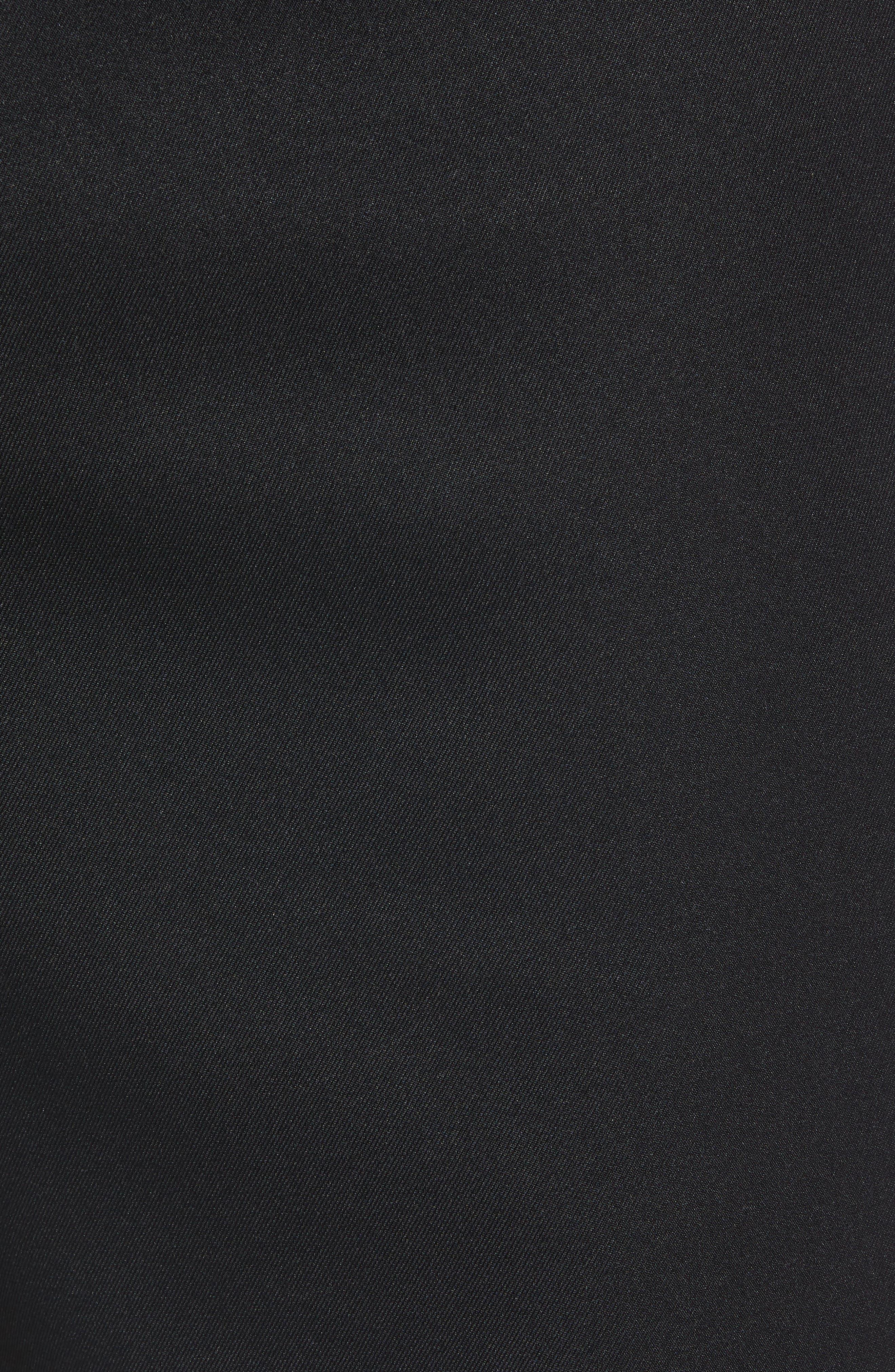 Salem High Drape Performance Shorts,                             Alternate thumbnail 5, color,                             BLACK