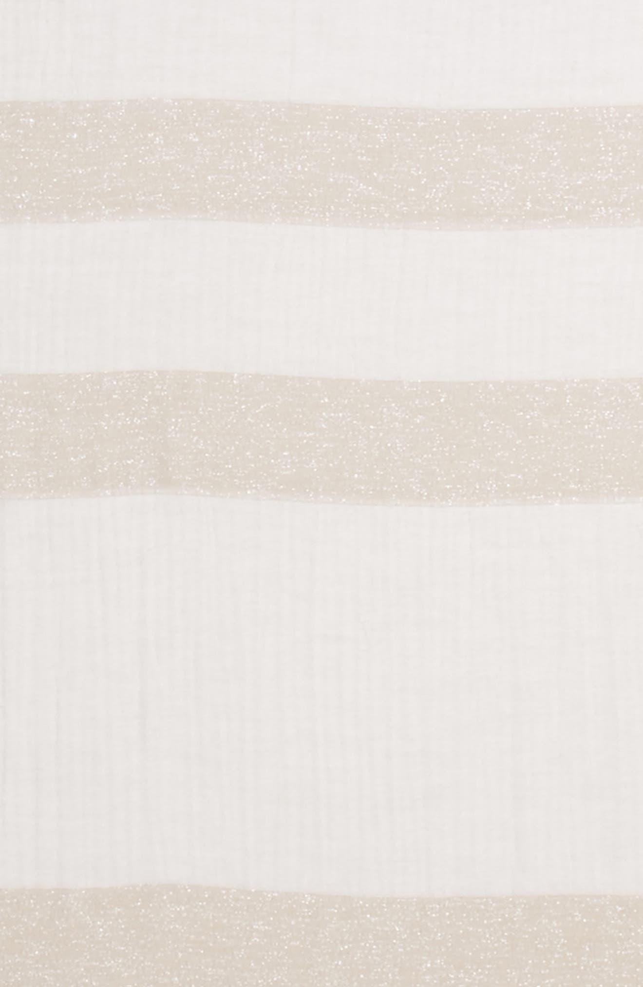 Metallic Stripe Scarf,                             Alternate thumbnail 4, color,