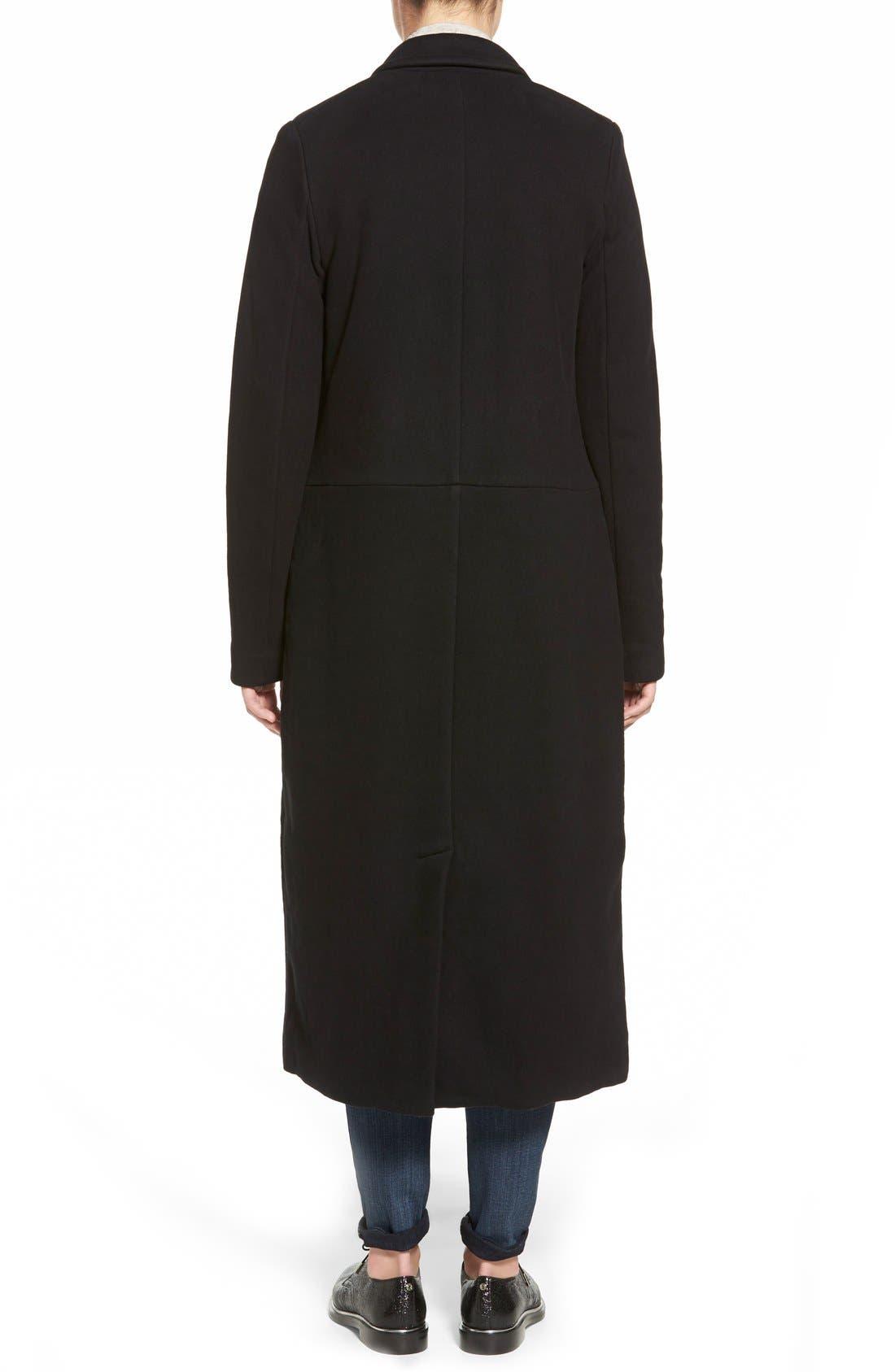 JAMES PERSE,                             Fleece Overcoat,                             Alternate thumbnail 3, color,                             001