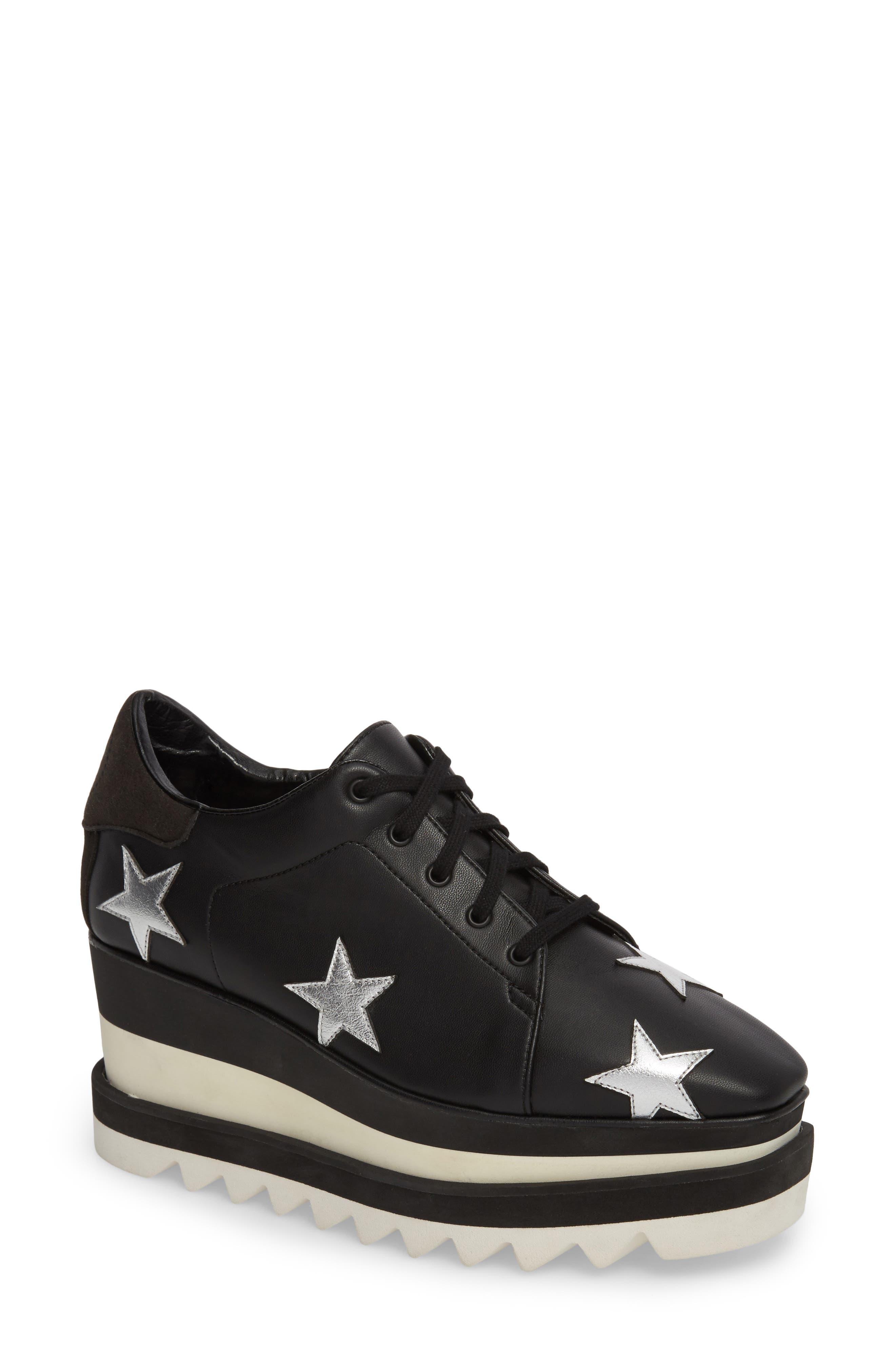 Elyse Platform Sneaker,                         Main,                         color, BLACK