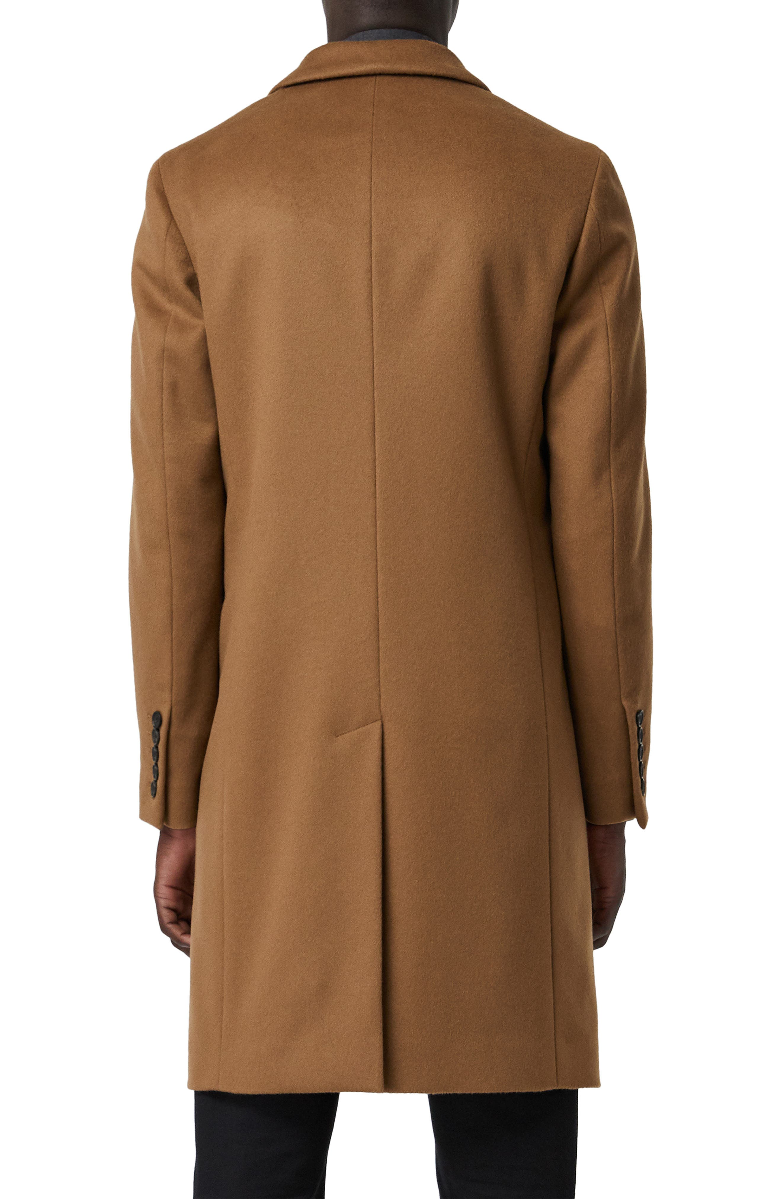 Halesowen Wool and Cashmere Overcoat,                             Alternate thumbnail 2, color,                             DARK CAMEL