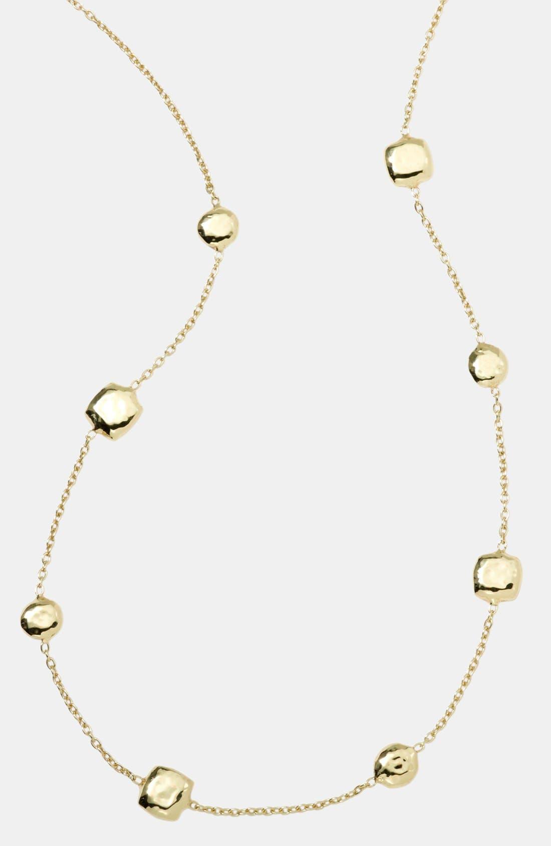 'Glamazon' 18k Gold Station Necklace,                             Main thumbnail 1, color,                             710