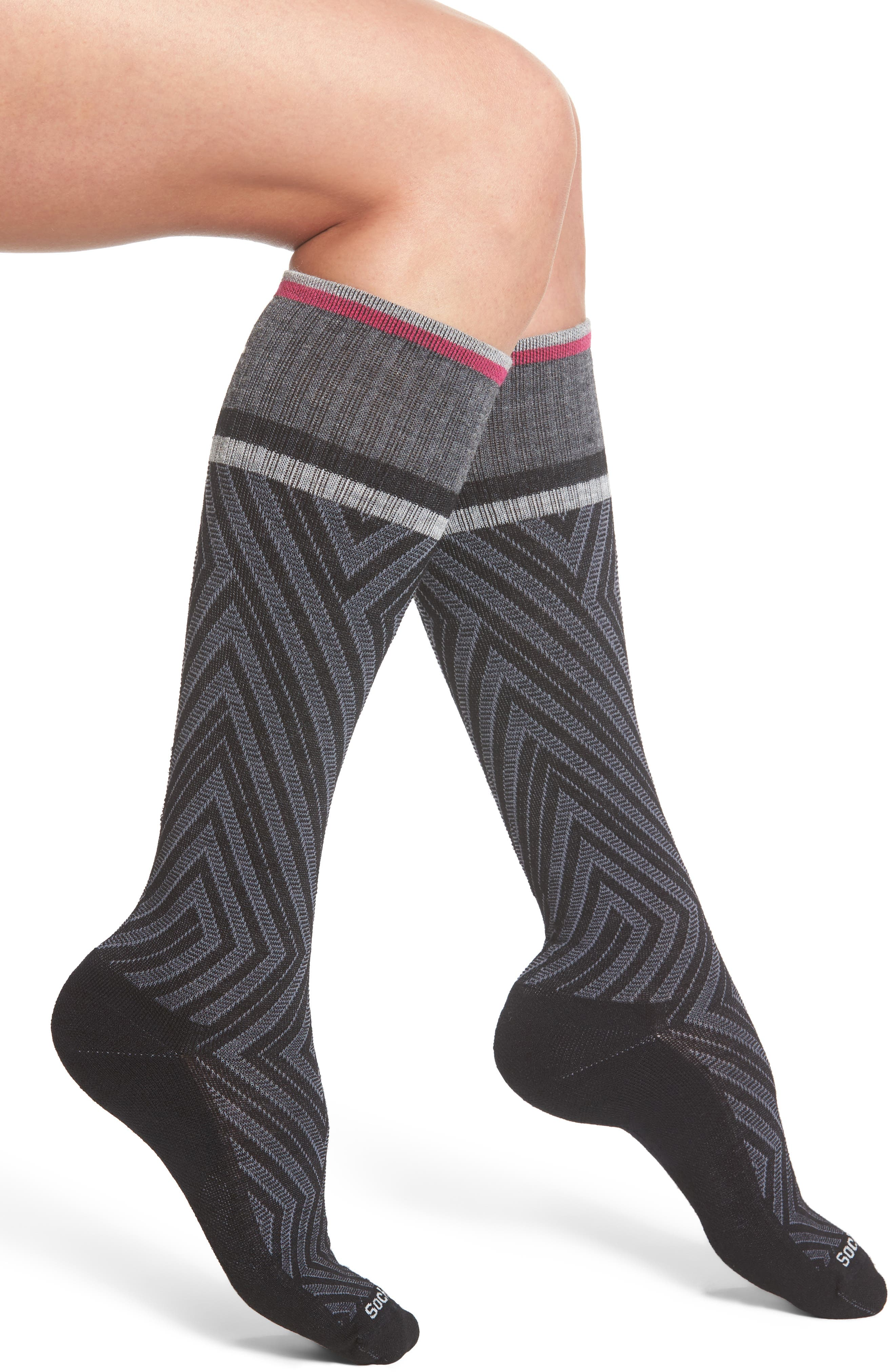 Labyrinth Graduated Compression Socks,                             Main thumbnail 1, color,                             001