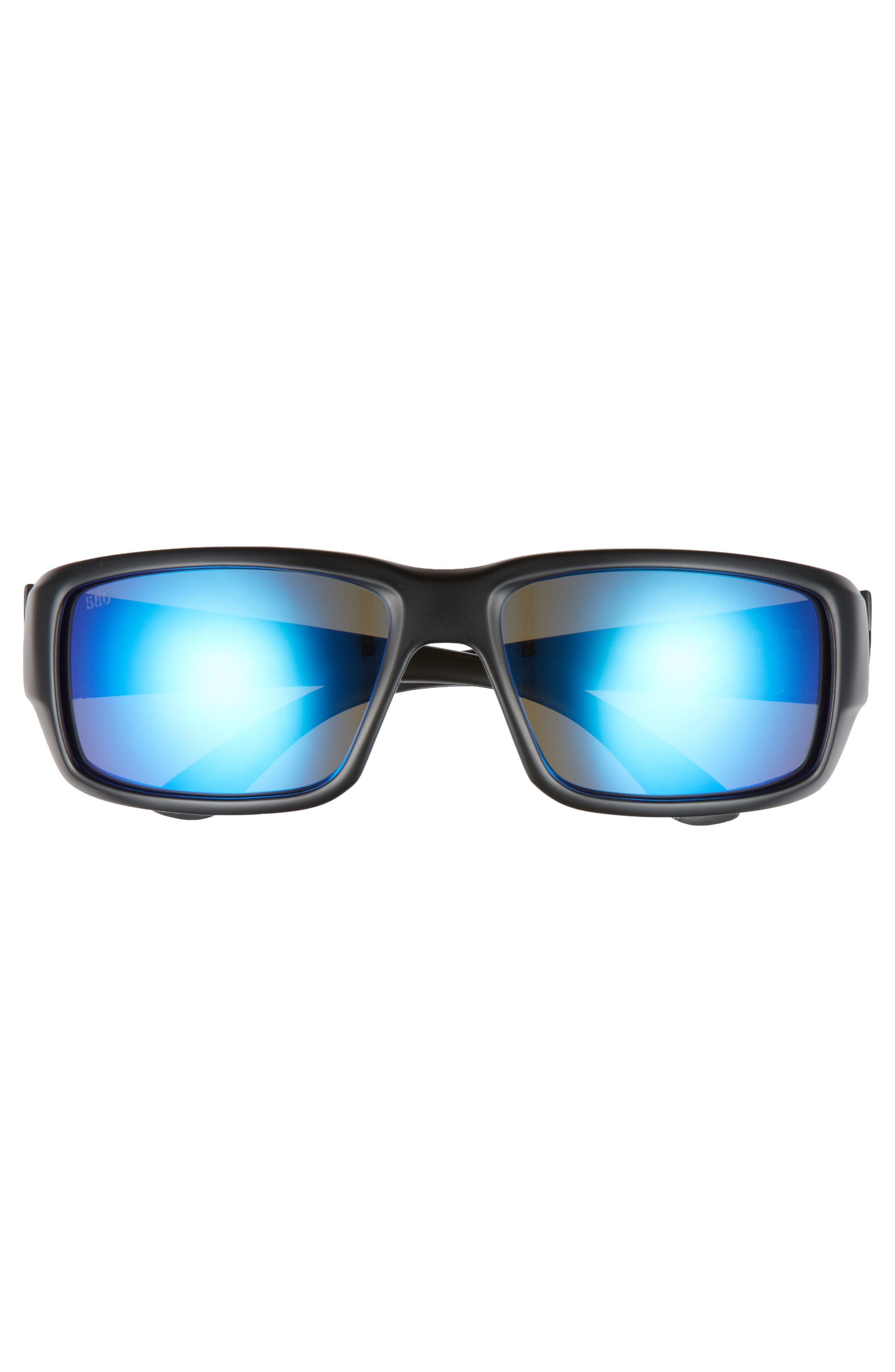 Fantail 60mm Polarized Sunglasses,                             Alternate thumbnail 2, color,                             BLACKOUT/ BLUE MIRROR