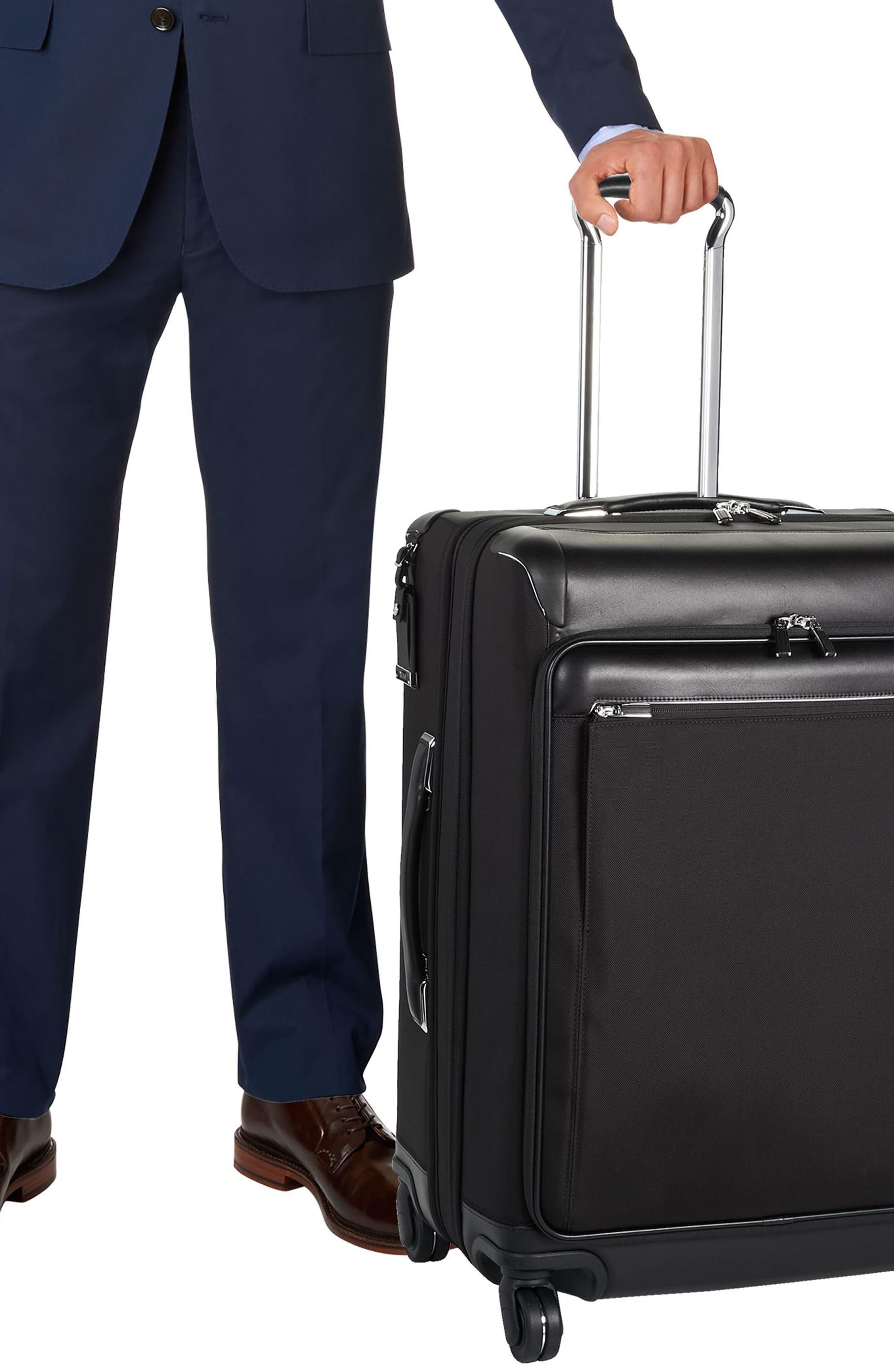 MacArthur 26-Inch Short Trip Expandable Packing Case,                             Alternate thumbnail 4, color,                             BLACK