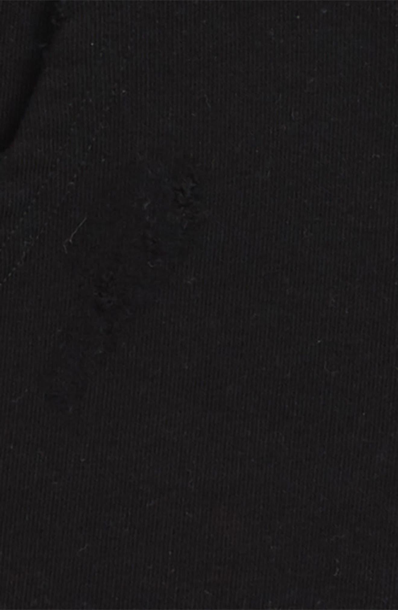 Torn Hoodie,                             Alternate thumbnail 2, color,                             BLACK