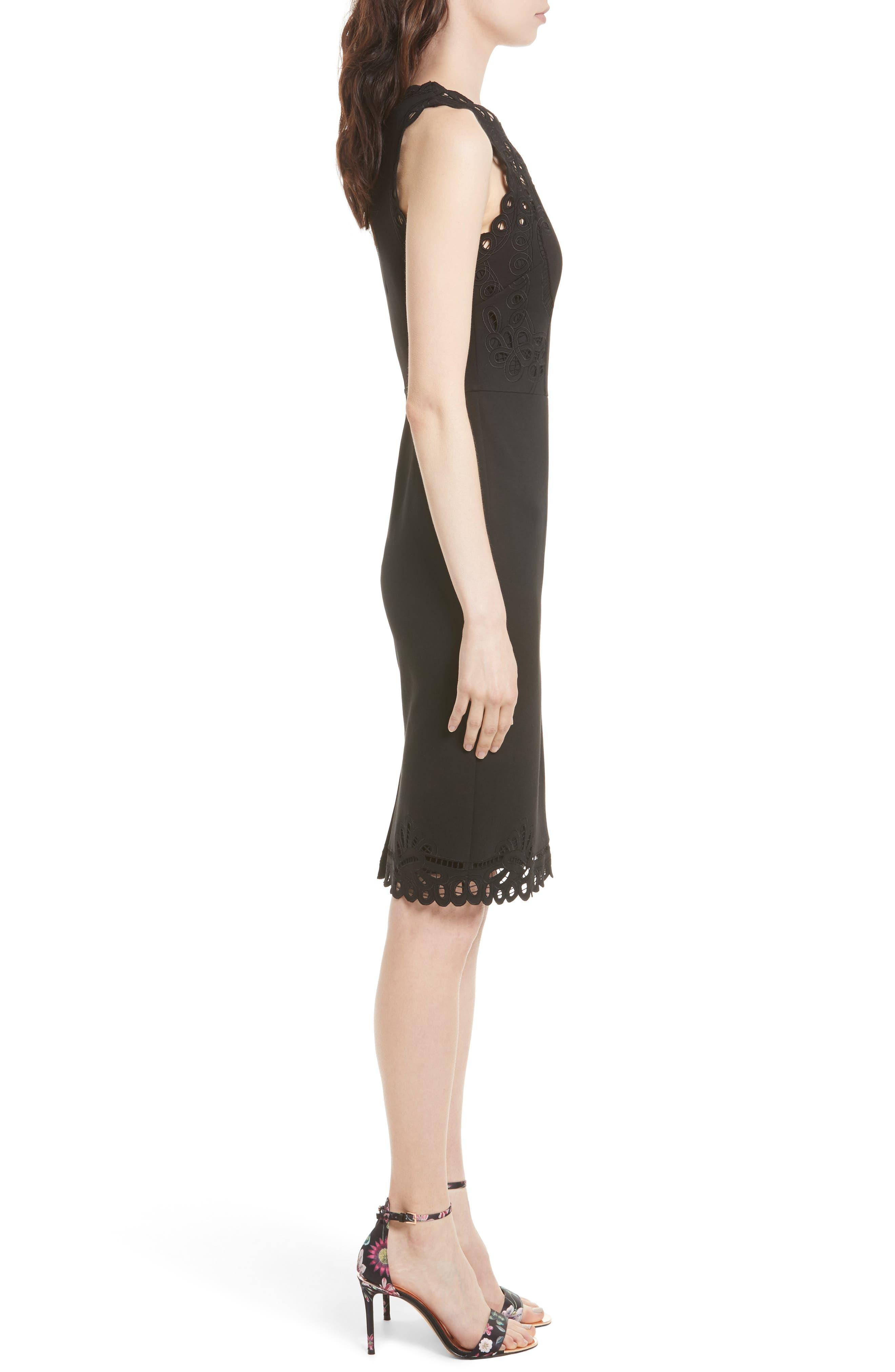 Verita Cutout Yoke Sheath Dress,                             Alternate thumbnail 8, color,
