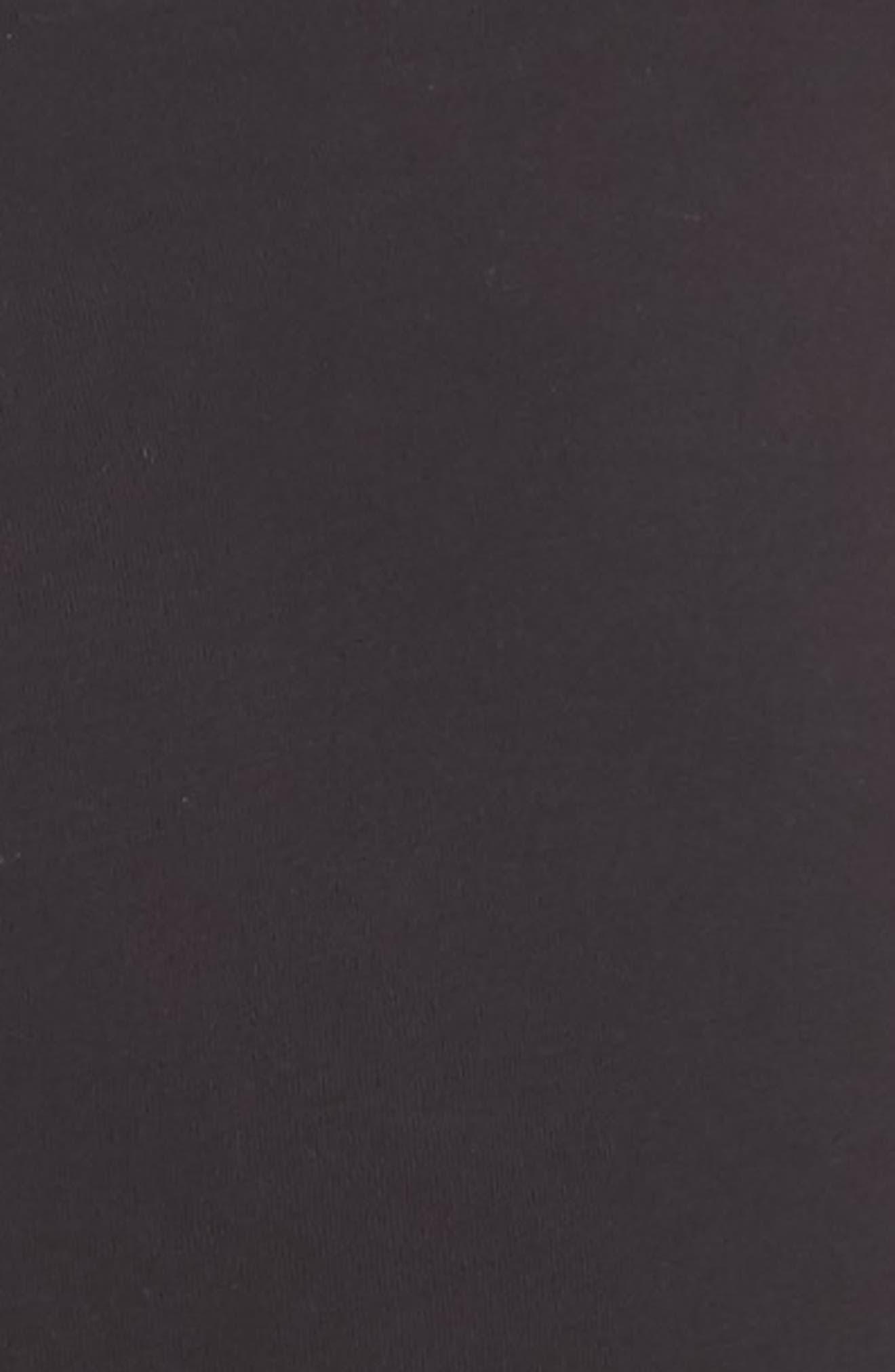 Aden Ruffle Hem Lounge Pants,                             Alternate thumbnail 5, color,                             BLACK