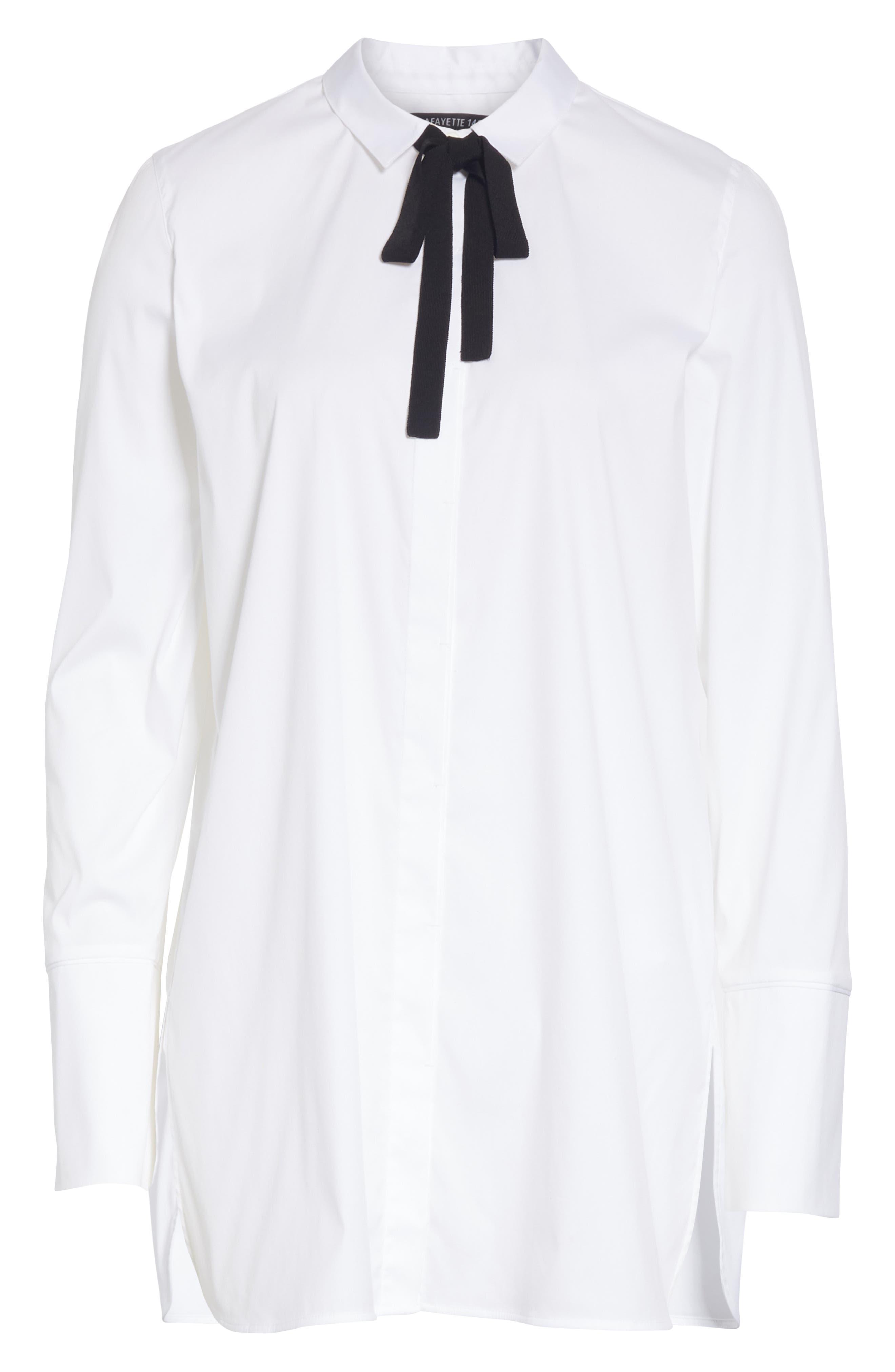 Annaliese Shirt,                             Alternate thumbnail 8, color,                             WHITE
