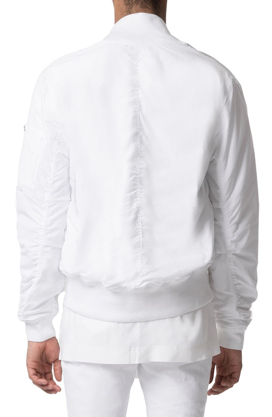 AAA Collection Ruched Back Bomber Jacket,                             Alternate thumbnail 4, color,                             100