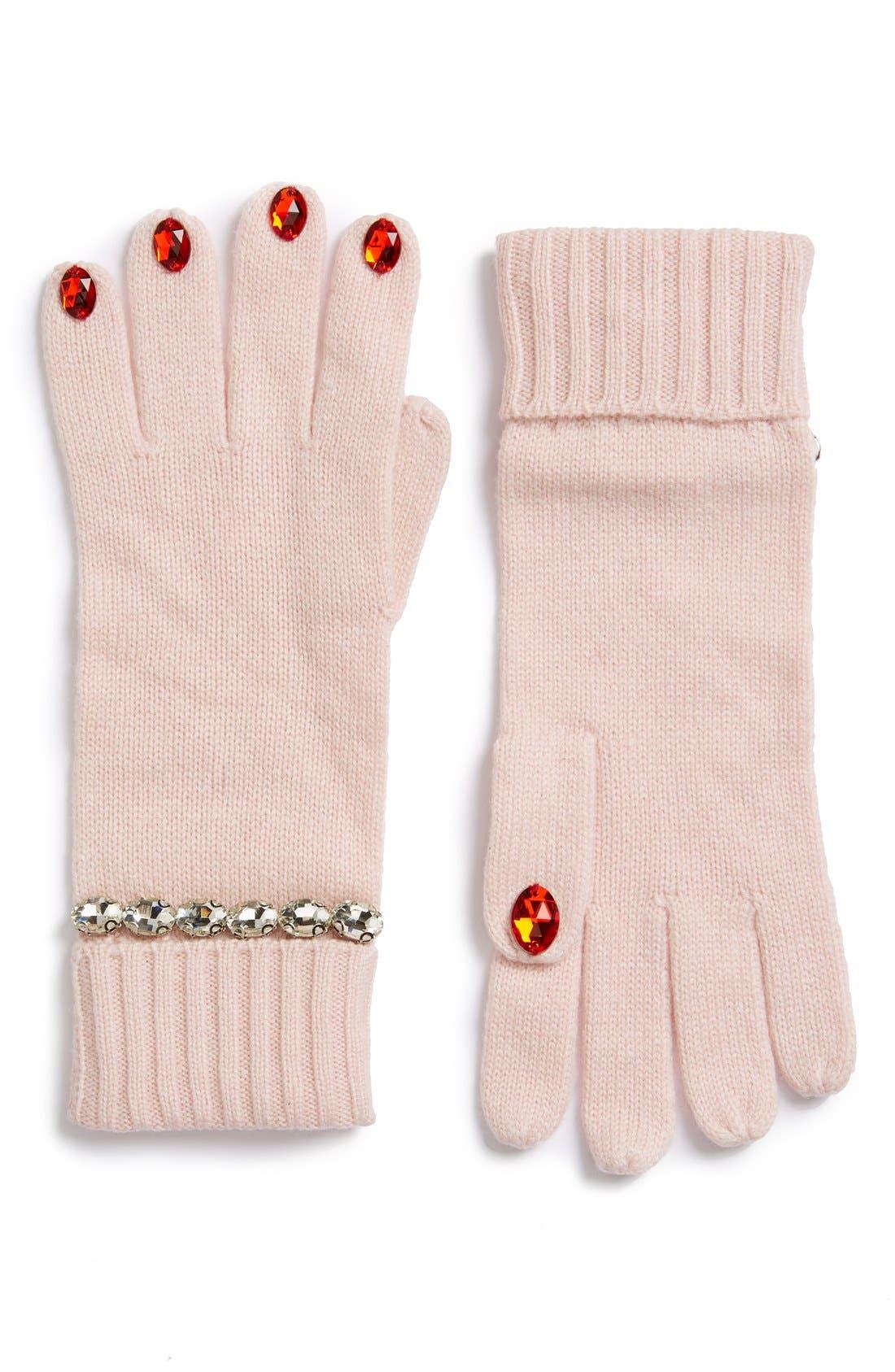 KATE SPADE NEW YORK,                             'pretty lady' gloves,                             Main thumbnail 1, color,                             650