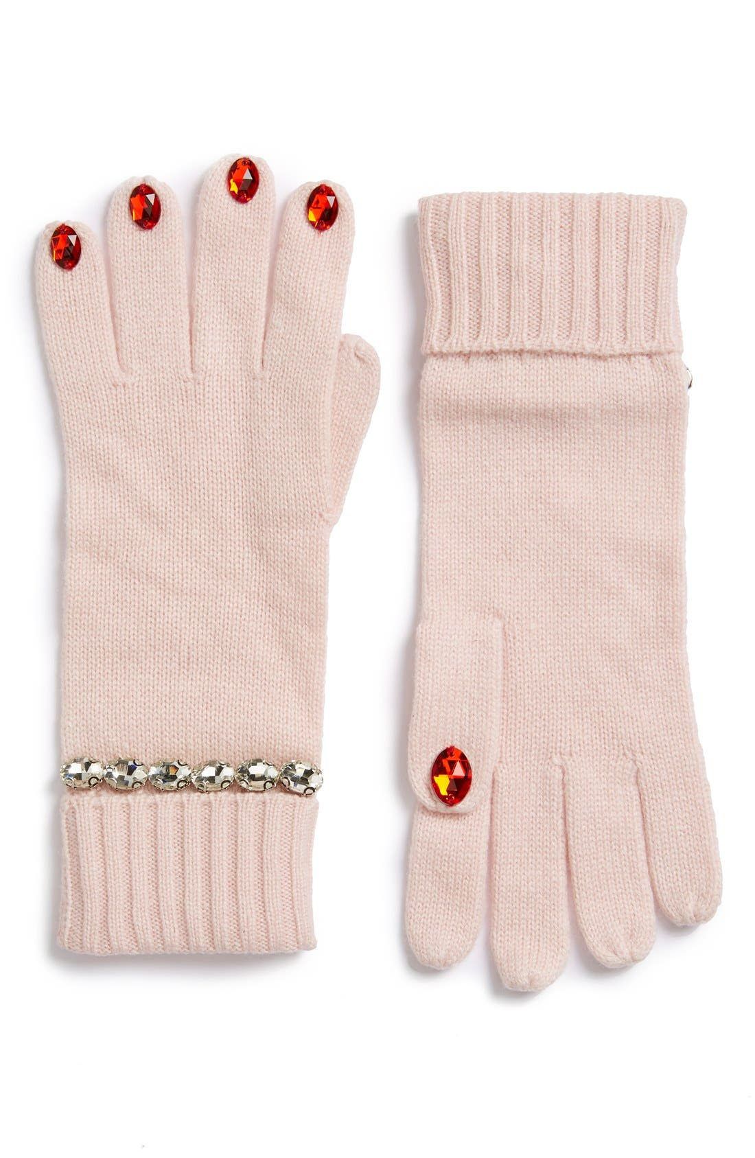 KATE SPADE NEW YORK 'pretty lady' gloves, Main, color, 650