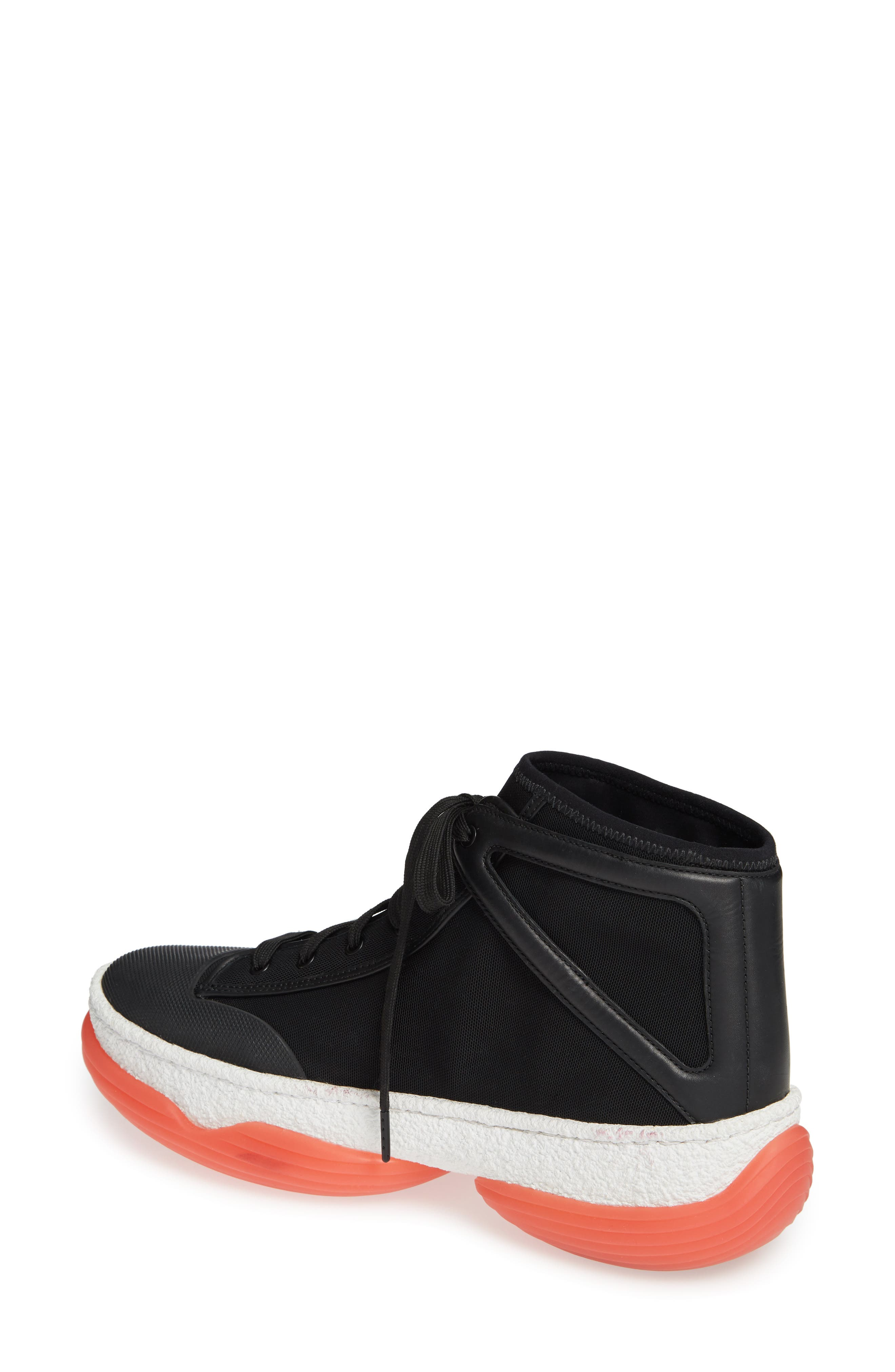 ALEXANDER WANG,                             Logo Platform Sneaker,                             Alternate thumbnail 2, color,                             BLACK