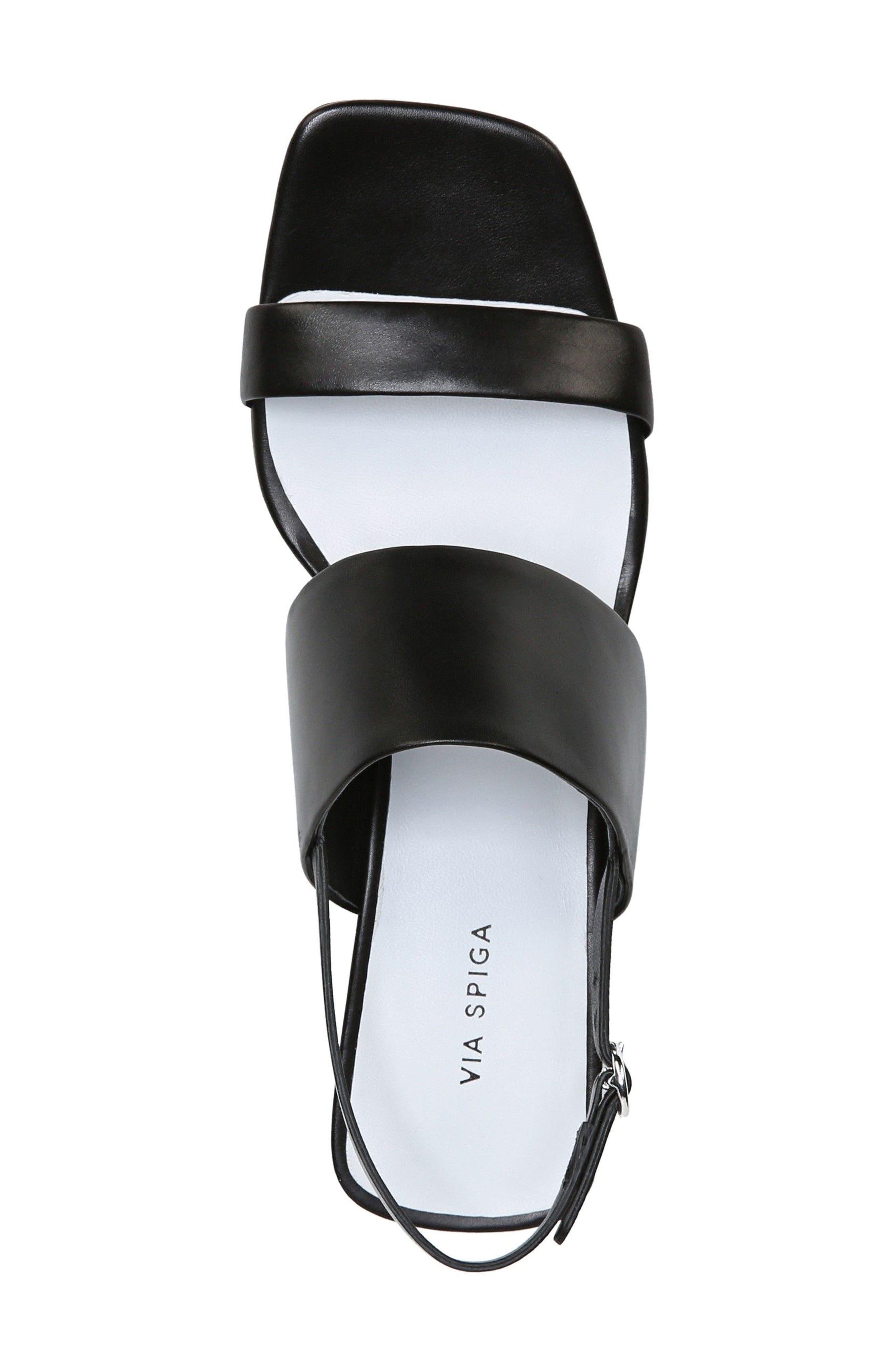Forte Block Heel Sandal,                             Alternate thumbnail 5, color,                             001