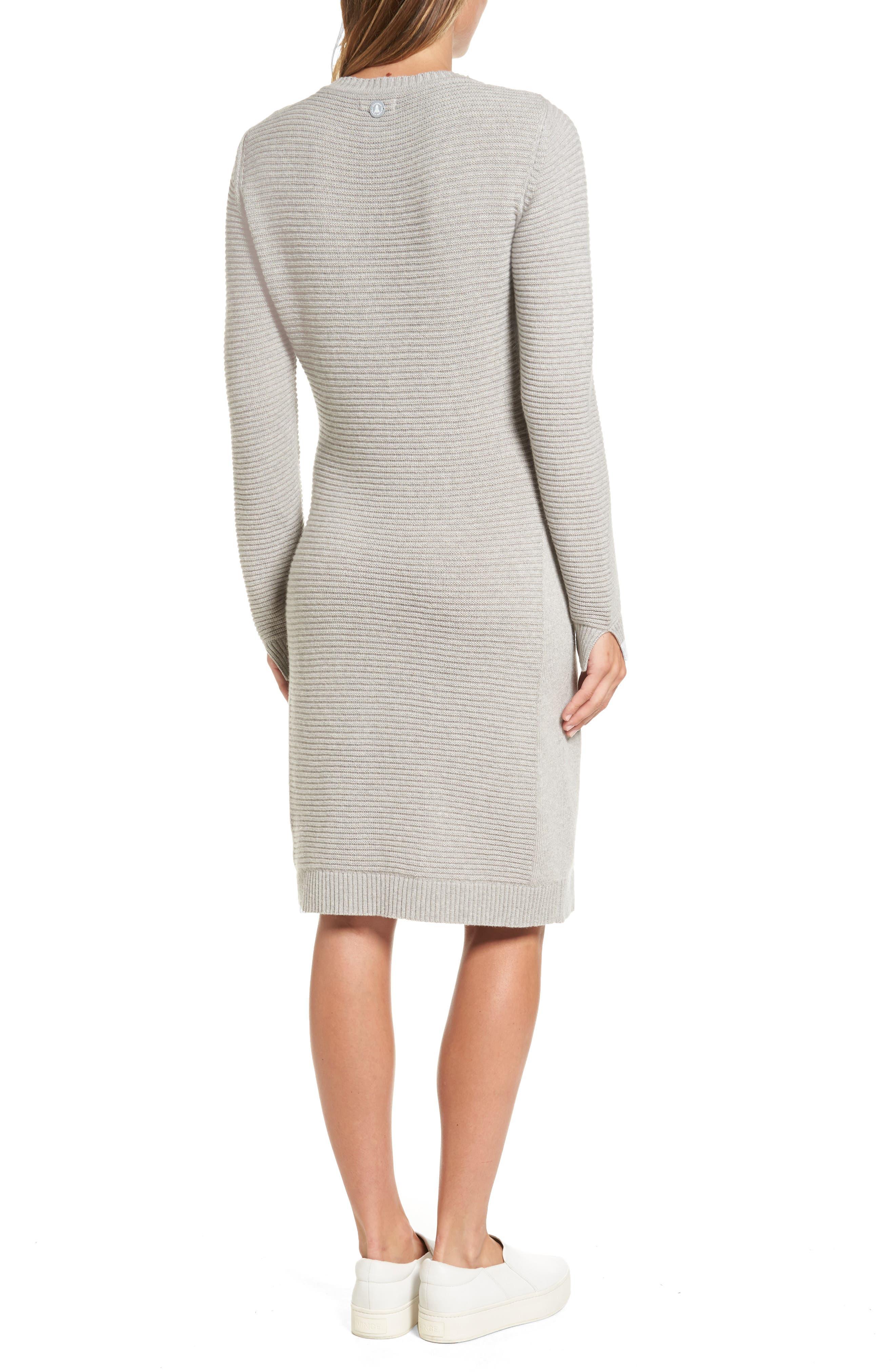 Emmanuel Cable Knit Sweater Dress,                             Alternate thumbnail 2, color,                             050