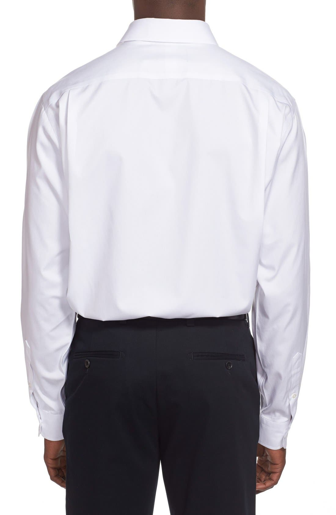 Smartcare<sup>™</sup> Classic Fit Solid Dress Shirt,                             Alternate thumbnail 3, color,                             WHITE