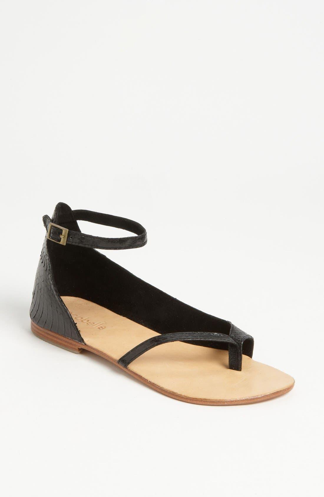 Ankle Wrap Sandal,                         Main,                         color, 001