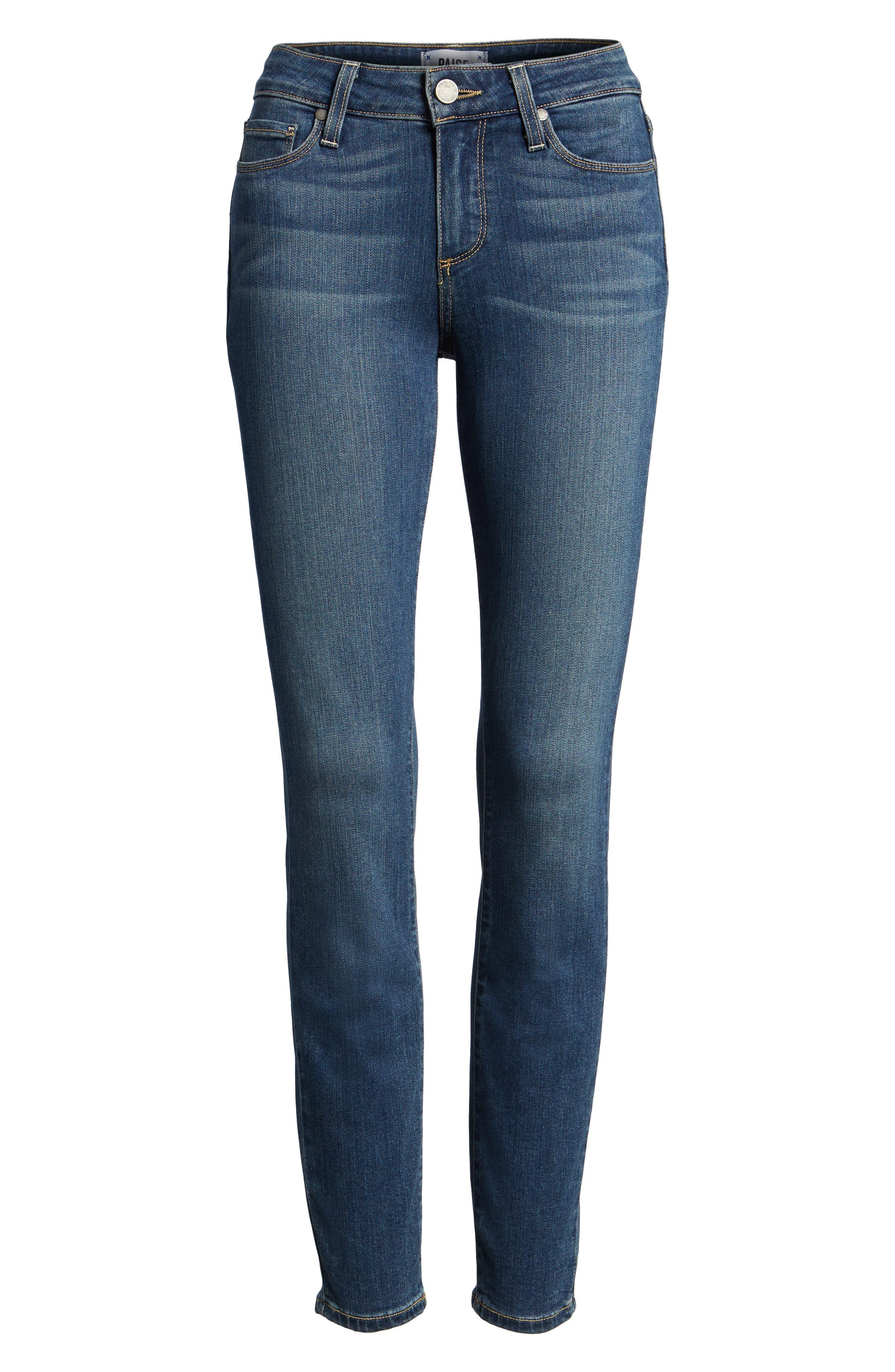 Transcend - Verdugo Ankle Skinny Jeans,                             Alternate thumbnail 7, color,                             TRISTAN