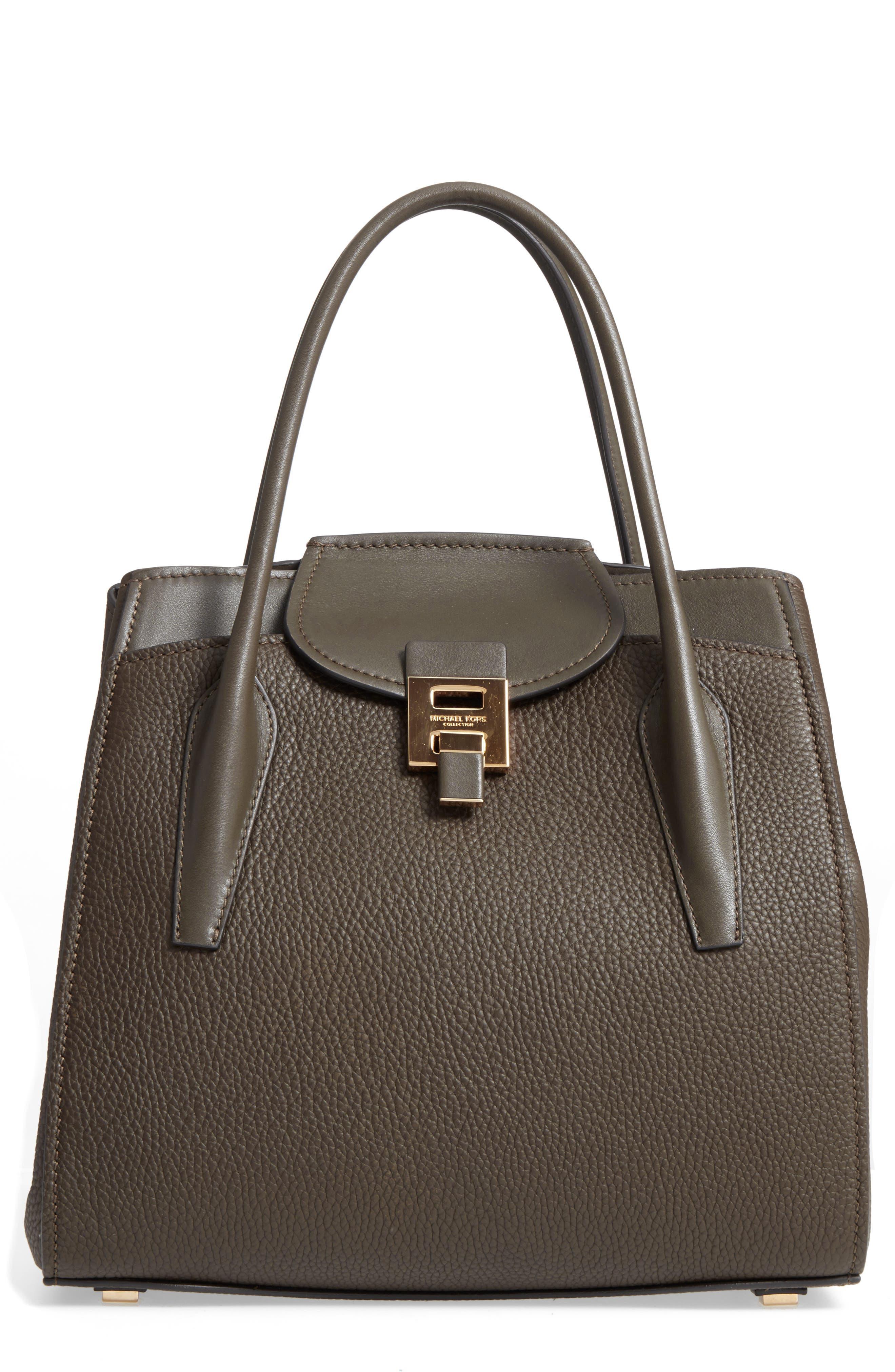 Large Bancroft Leather Top Handle Satchel,                             Main thumbnail 3, color,