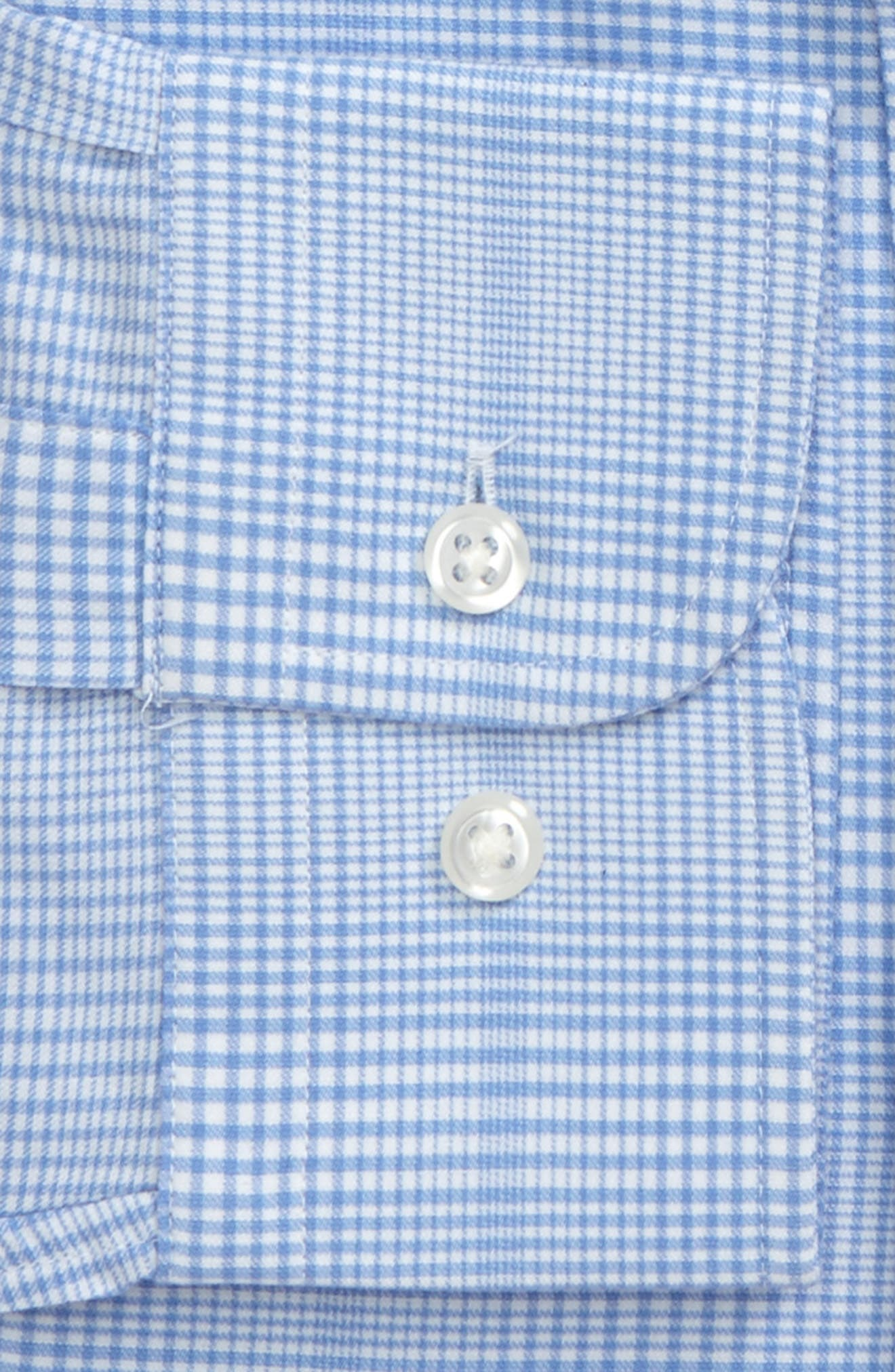 Tech-Smart Traditional Fit Stretch Plaid Dress Shirt,                             Alternate thumbnail 4, color,