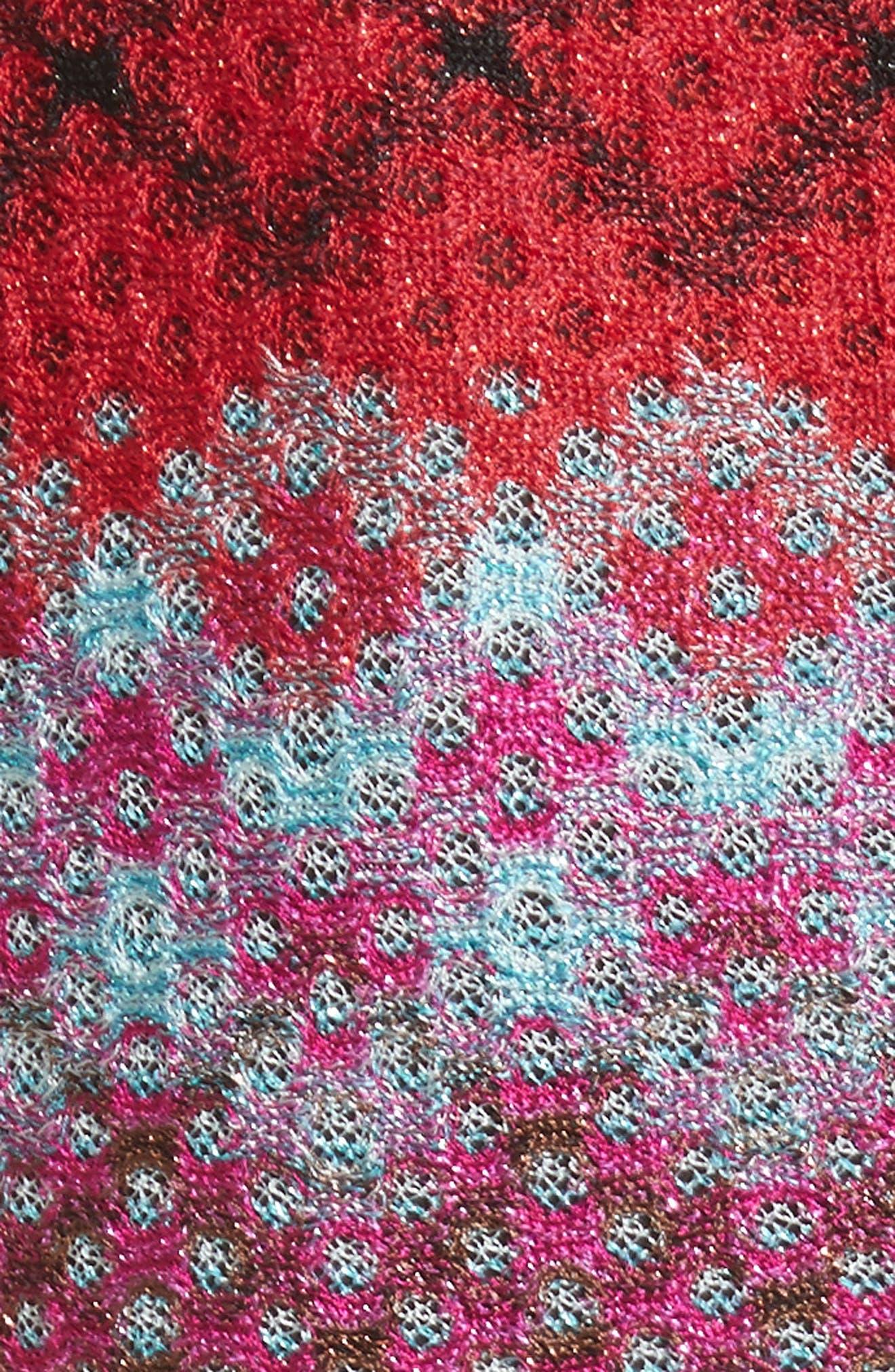 Multi Pattern Knit Dress,                             Alternate thumbnail 5, color,                             640