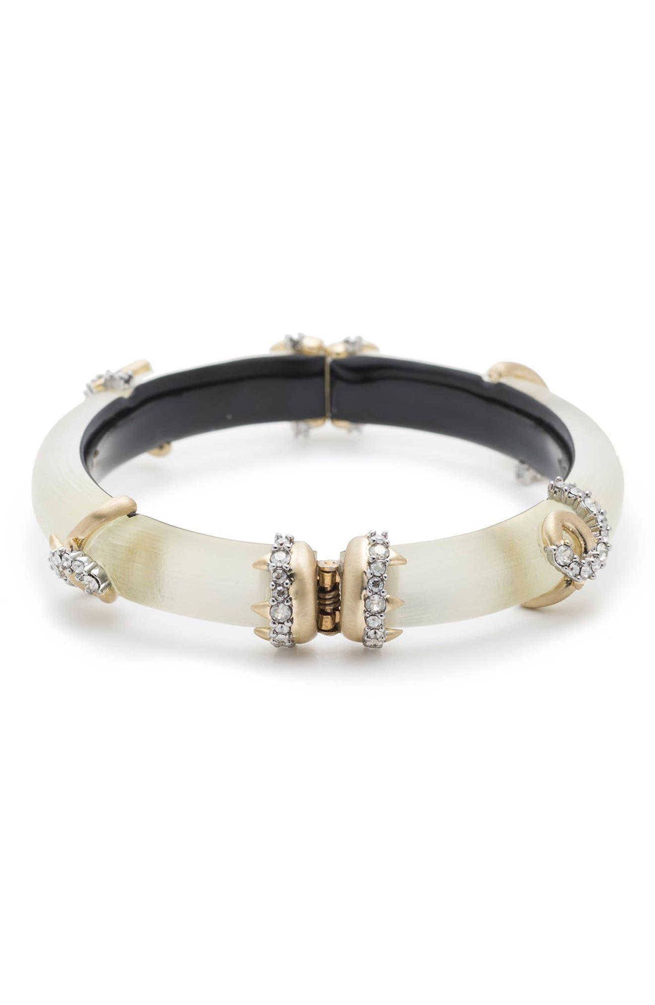 Crystal Encrusted Open Knot Bracelet,                             Alternate thumbnail 2, color,                             100