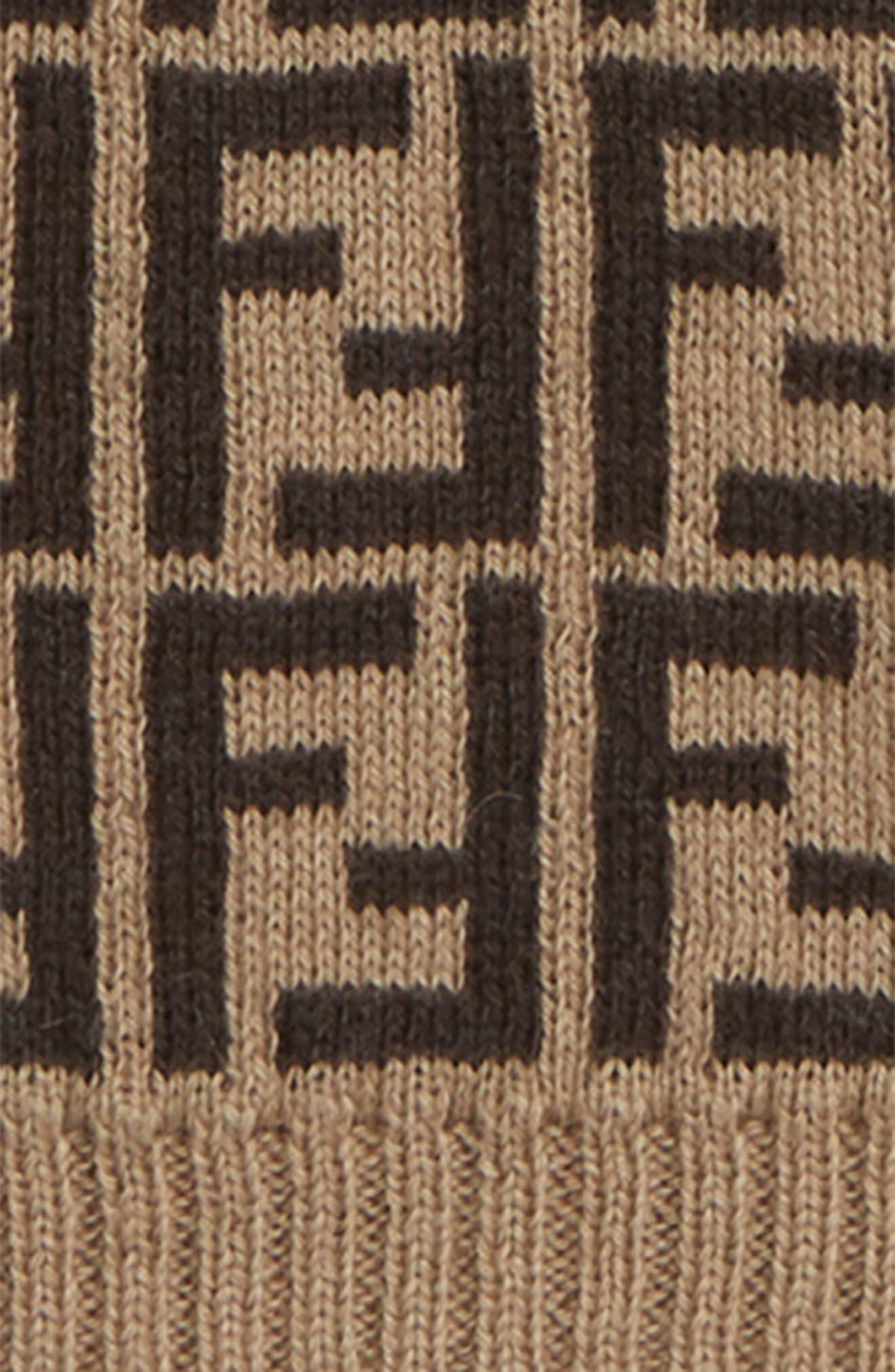 FENDI,                             Logo Sweater,                             Alternate thumbnail 2, color,                             F0LMJ BROWN