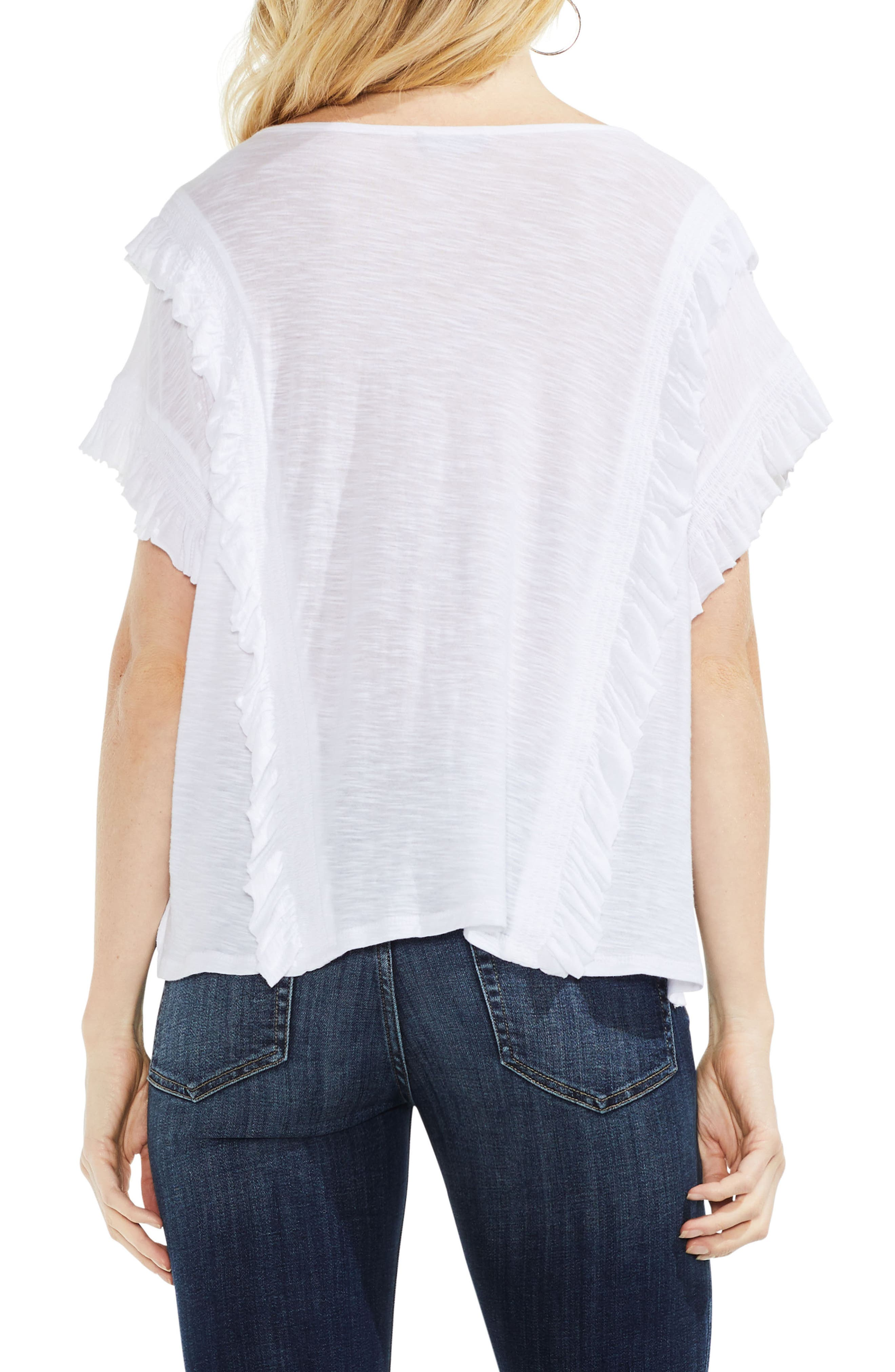 Ruffle Front Top,                             Alternate thumbnail 6, color,