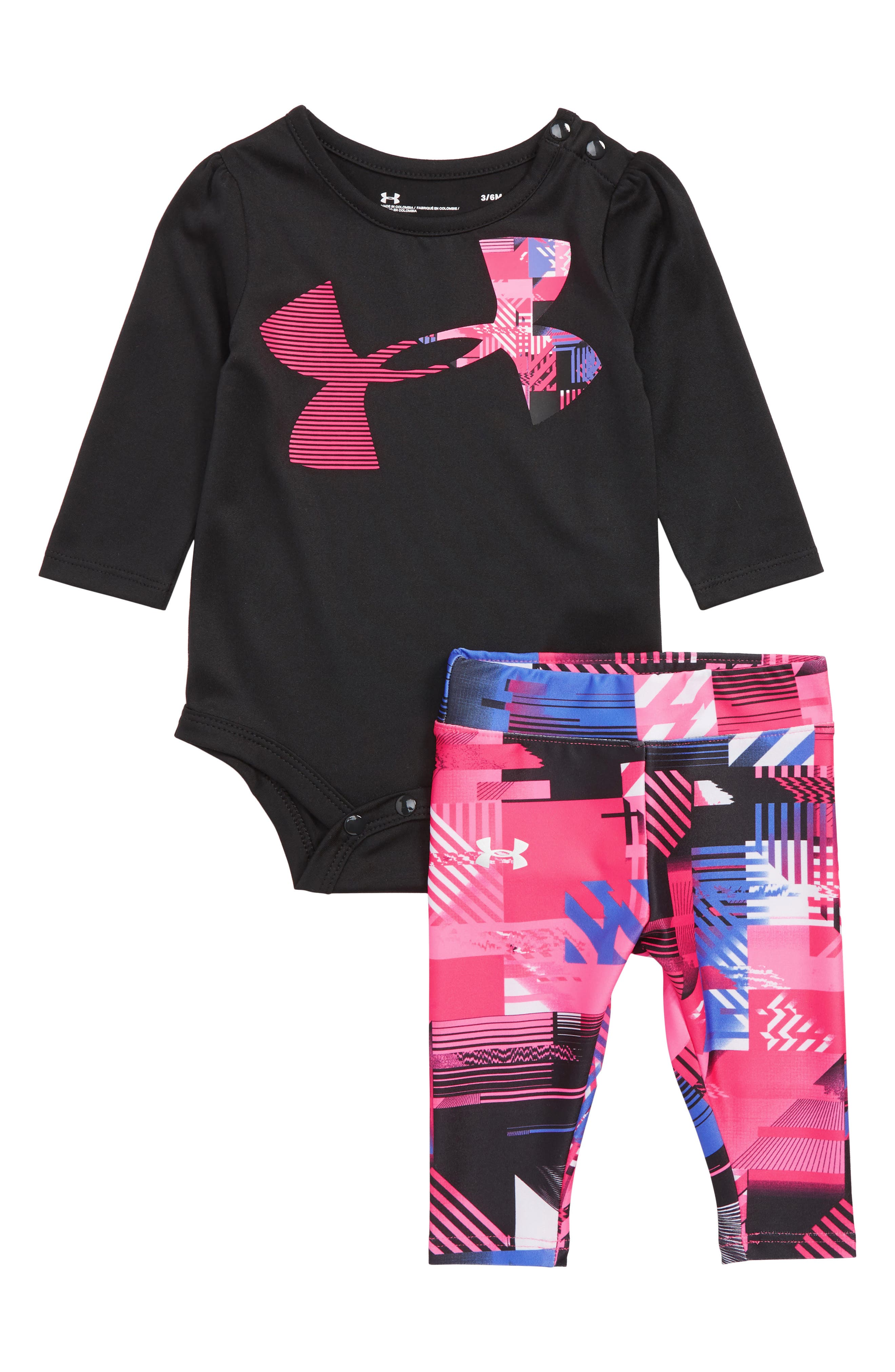 Interface Bodysuit & Leggings Set,                             Main thumbnail 1, color,                             BLACK