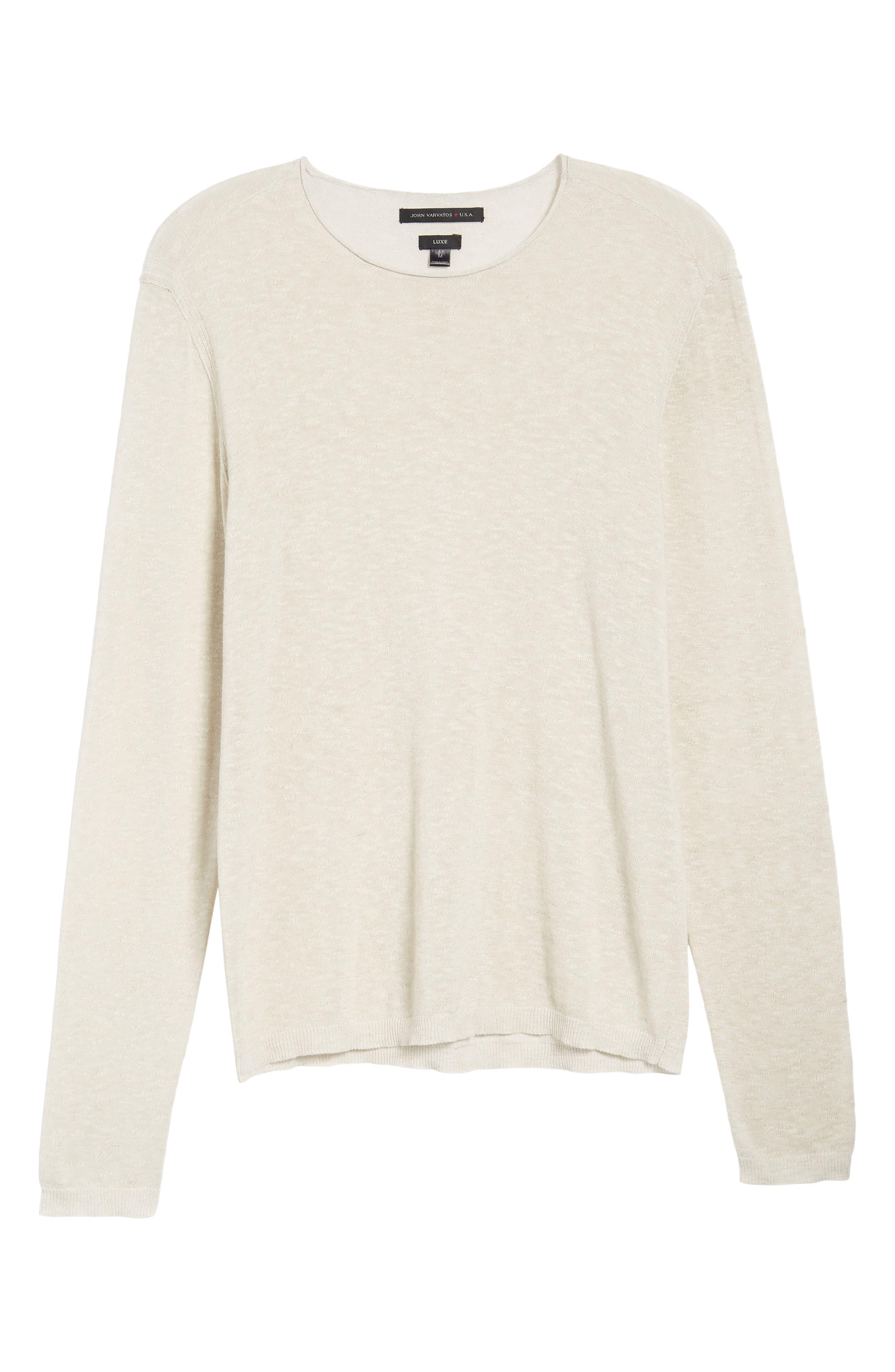 Slim Fit Cotton Blend Sweater,                             Alternate thumbnail 6, color,                             072