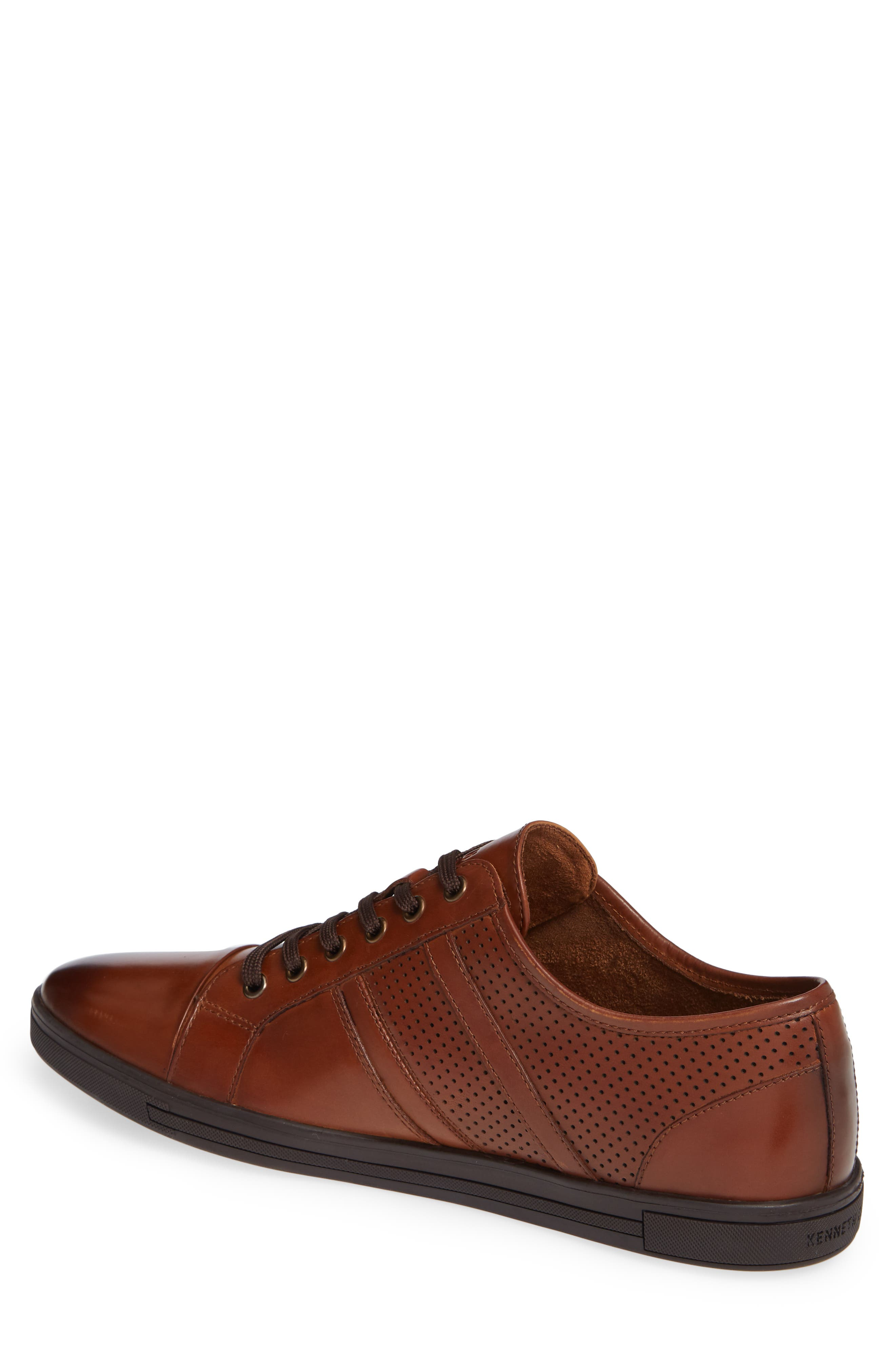 Initial Step Sneaker,                             Alternate thumbnail 2, color,                             COGNAC LEATHER